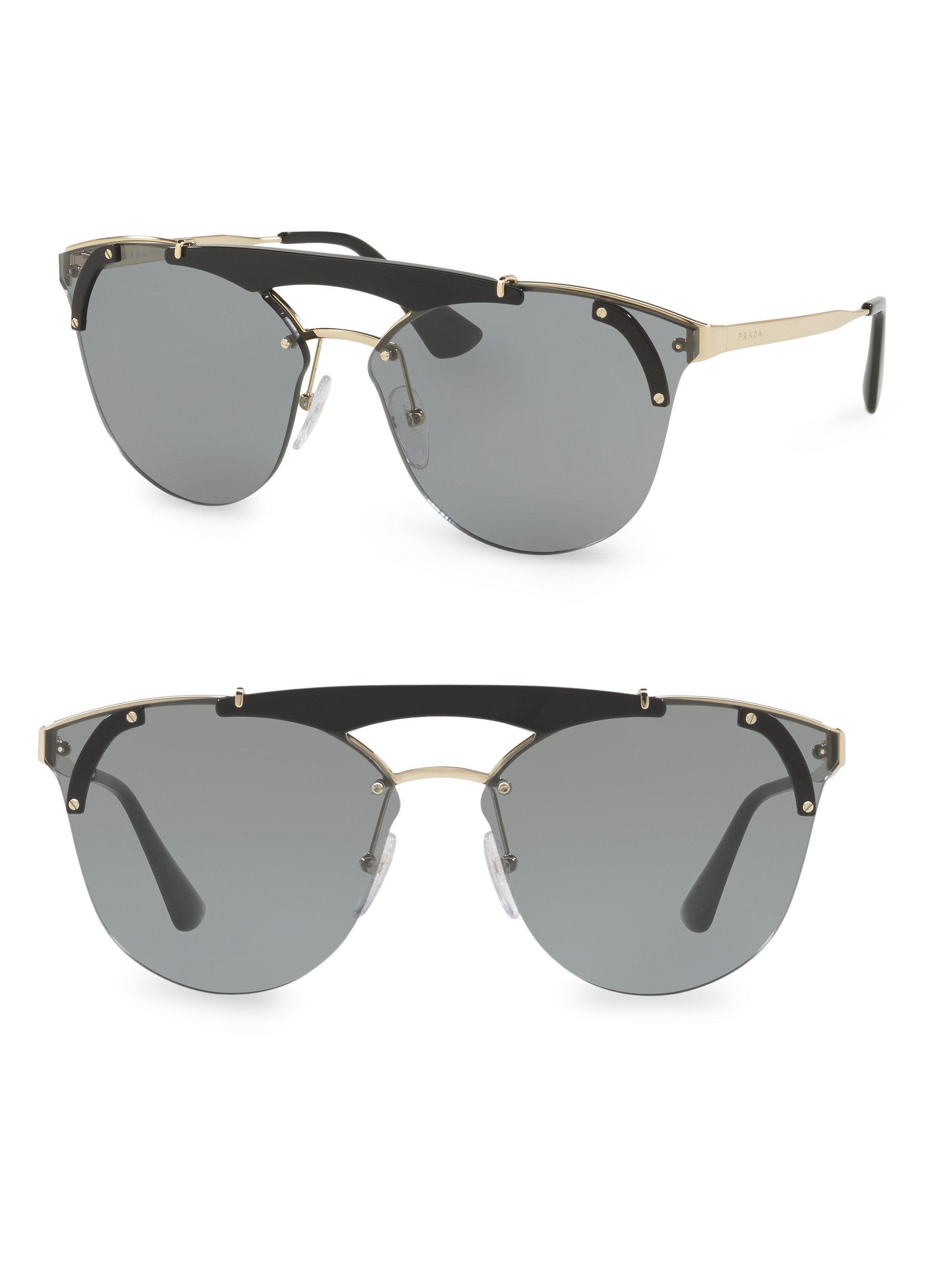 deconstructed aviator sunglasses - Black Fendi FIYYCs