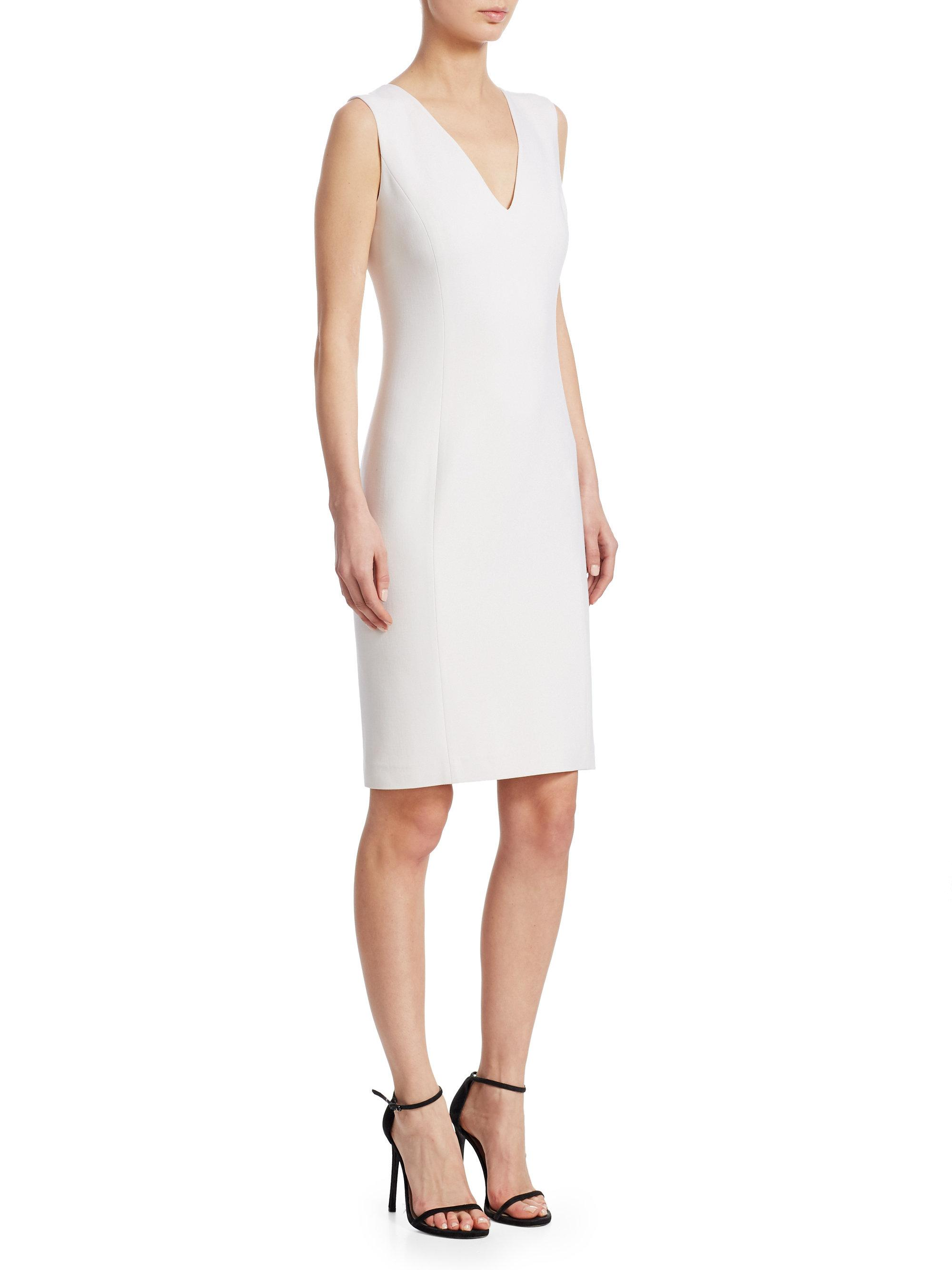 Ralph Lauren Collection. Women\u0027s White Iconic Style Maury Sleeveless Day  Dress
