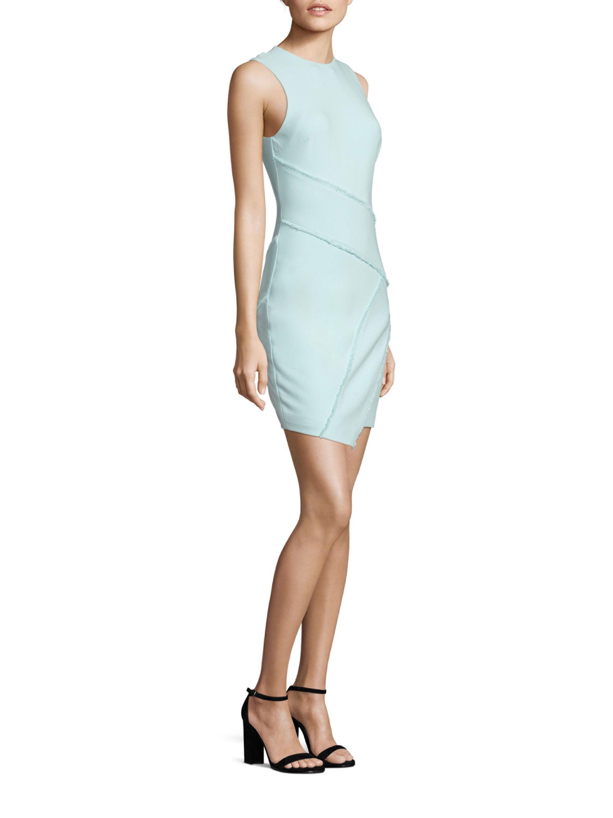 6592232643d84 Lyst - Cinq À Sept Josie Asymmetric Mini Dress in Blue
