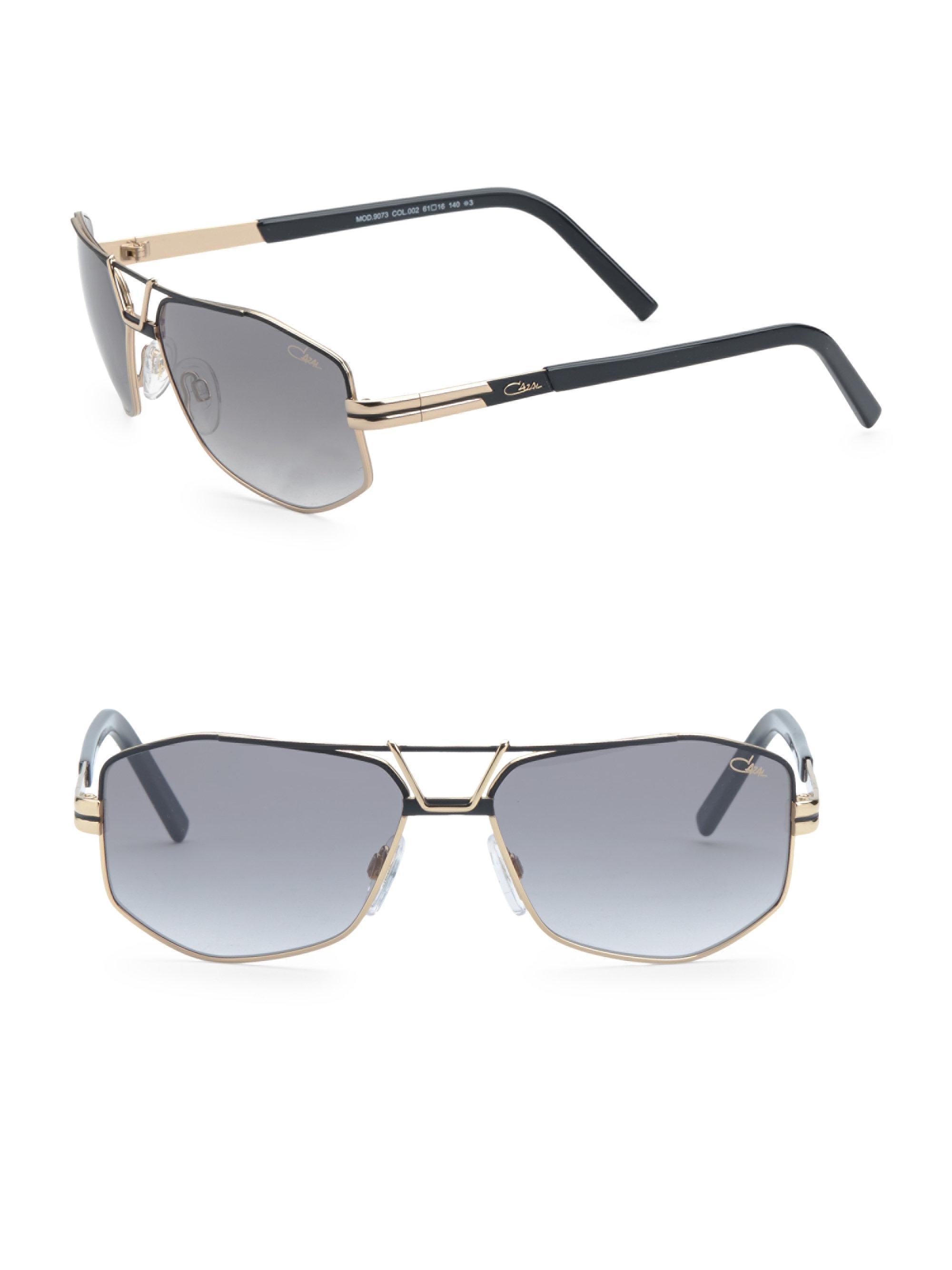 b7eefa1840 Cazal - Black 61mm Modified Aviator Sunglasses for Men - Lyst. View  fullscreen