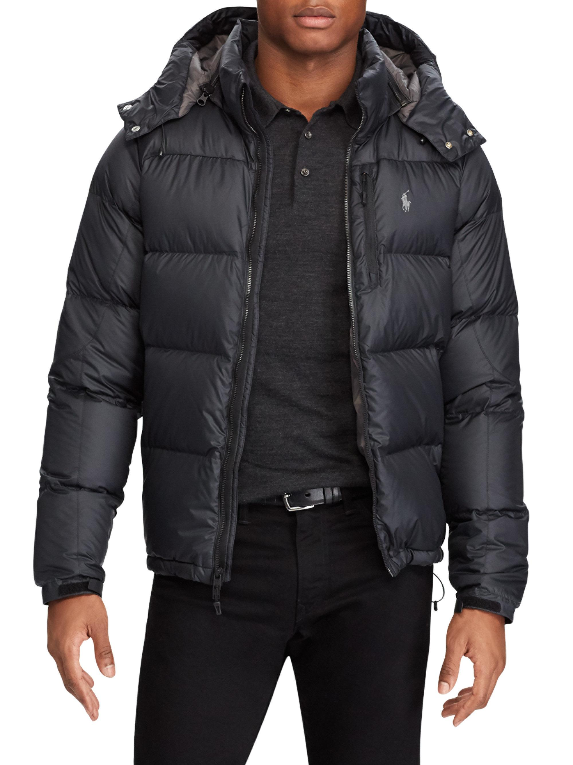 Polo Ralph Lauren Ripstop Water-repellent Down Jacket in Black for ... 0cf7795b0e1d
