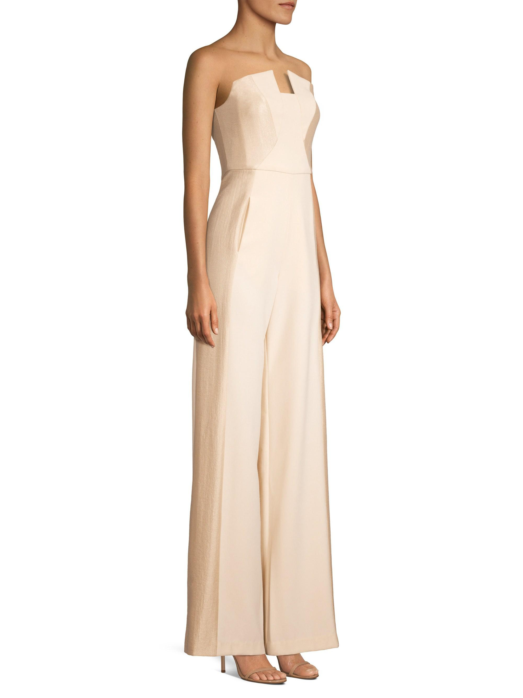 1df35c0a57f3 Lyst - Black Halo Lena Notch-neck Jumpsuit in Natural