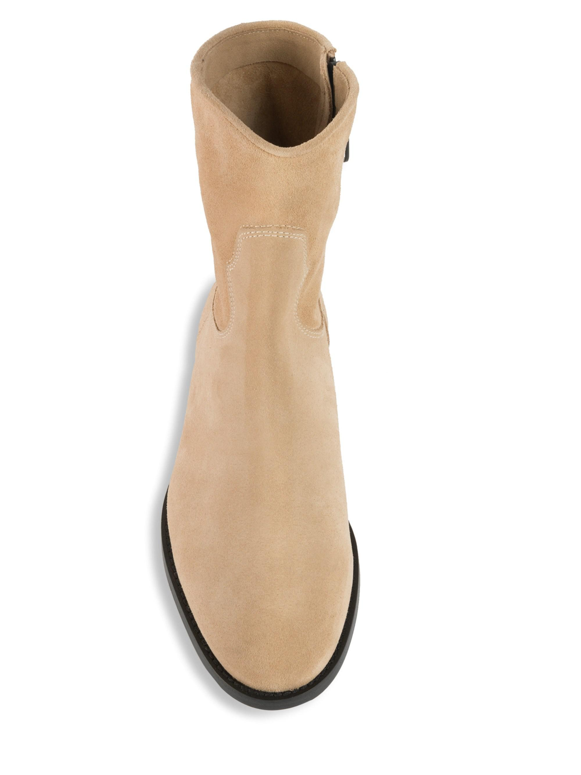3bac8e145d4 Off-White c/o Virgil Abloh Paperclip Chelsea Suede Boots in Natural ...