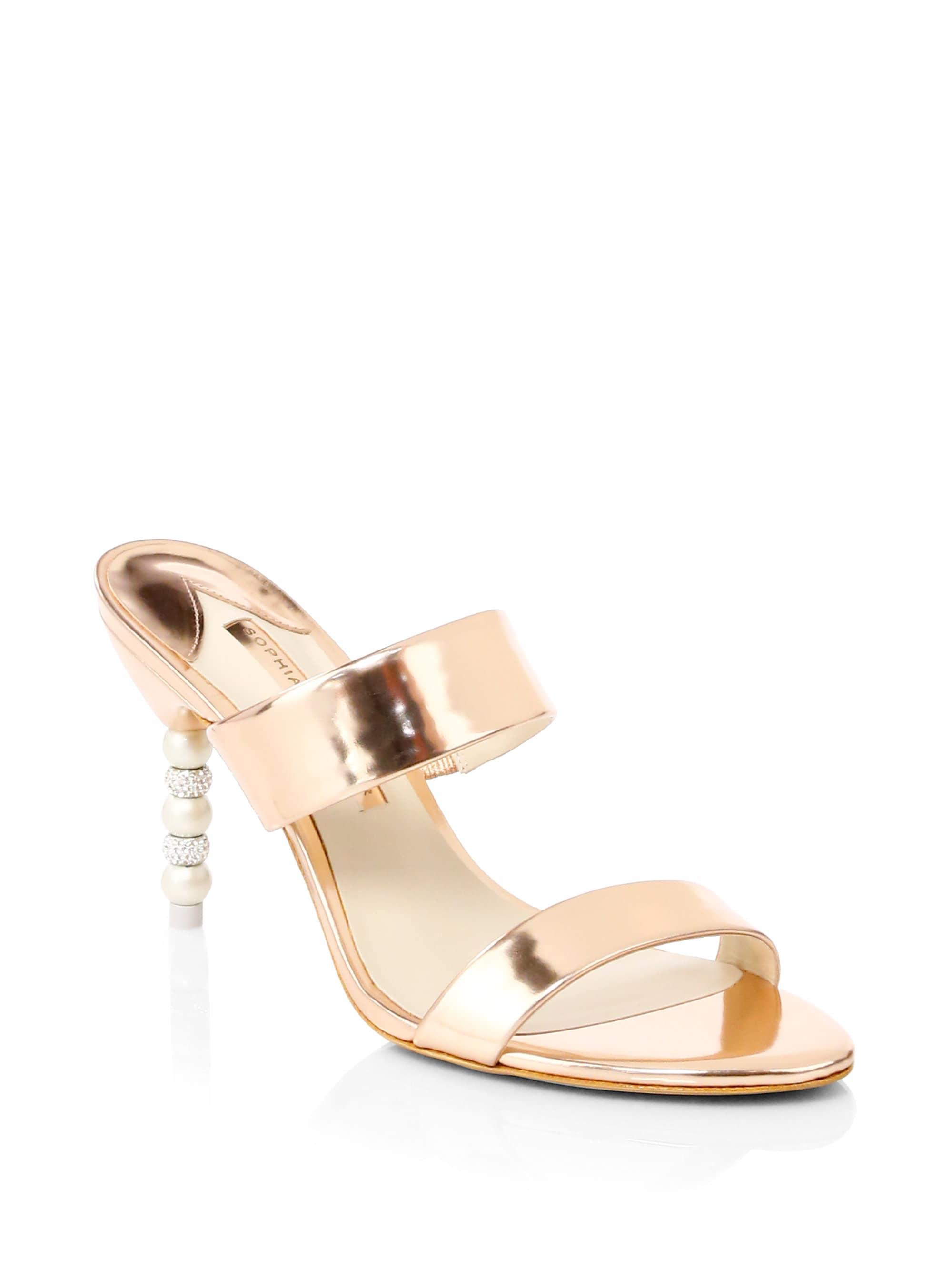 e49b667f7cf Sophia Webster Rosalind Mirror Leather Sandals in Metallic - Lyst