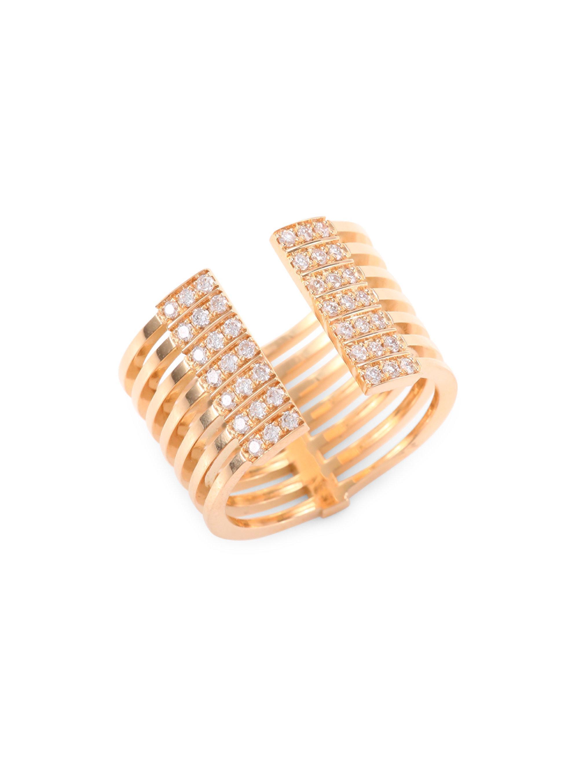 18K Pink Gold Diamond Ring Melissa Kaye U1QFLUzl