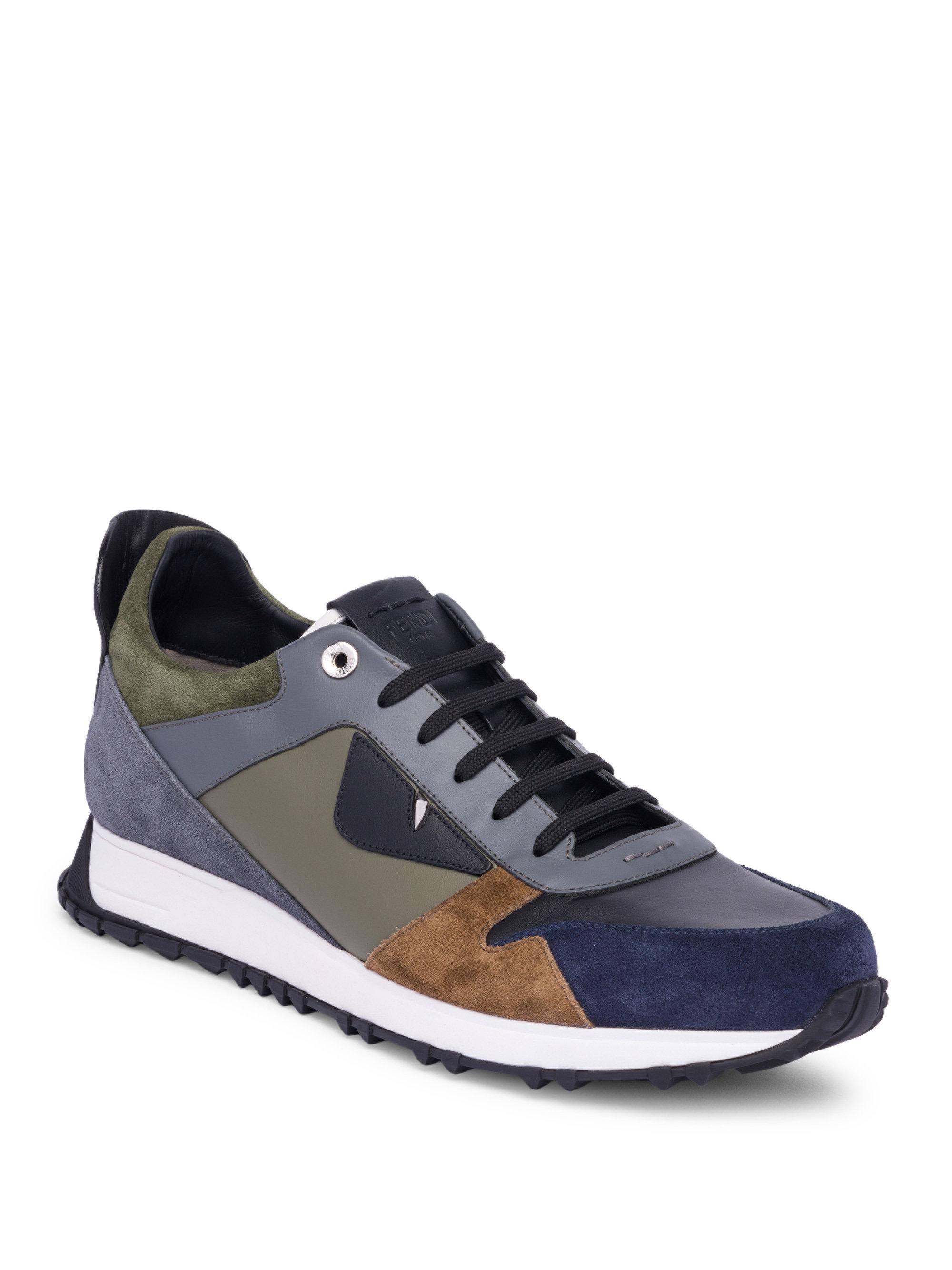FendiMonster Colorblock Sneakers Qr7zFgN