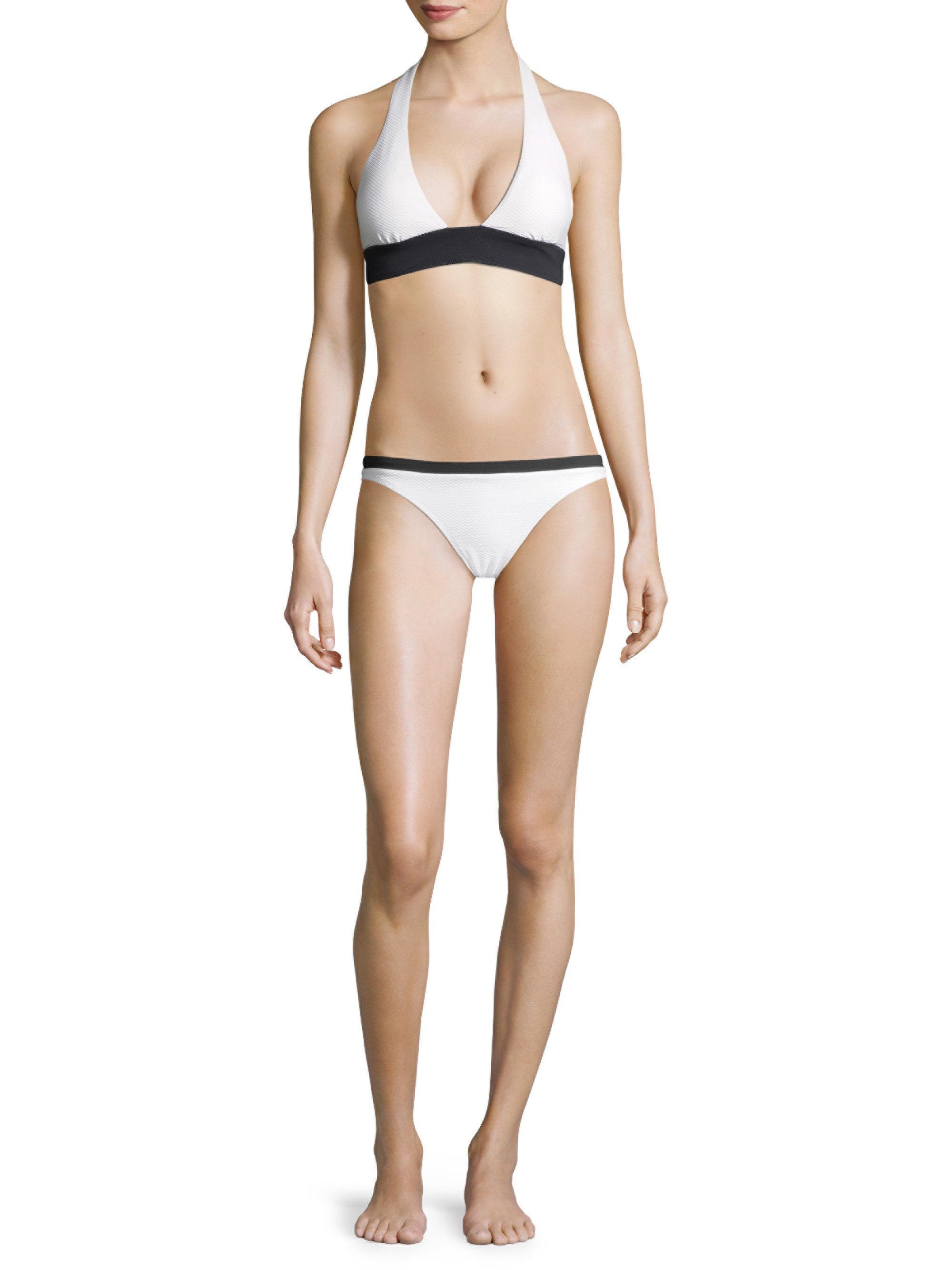 59902aed93 Heidi Klein Halter Padded Bikini Top in White - Lyst