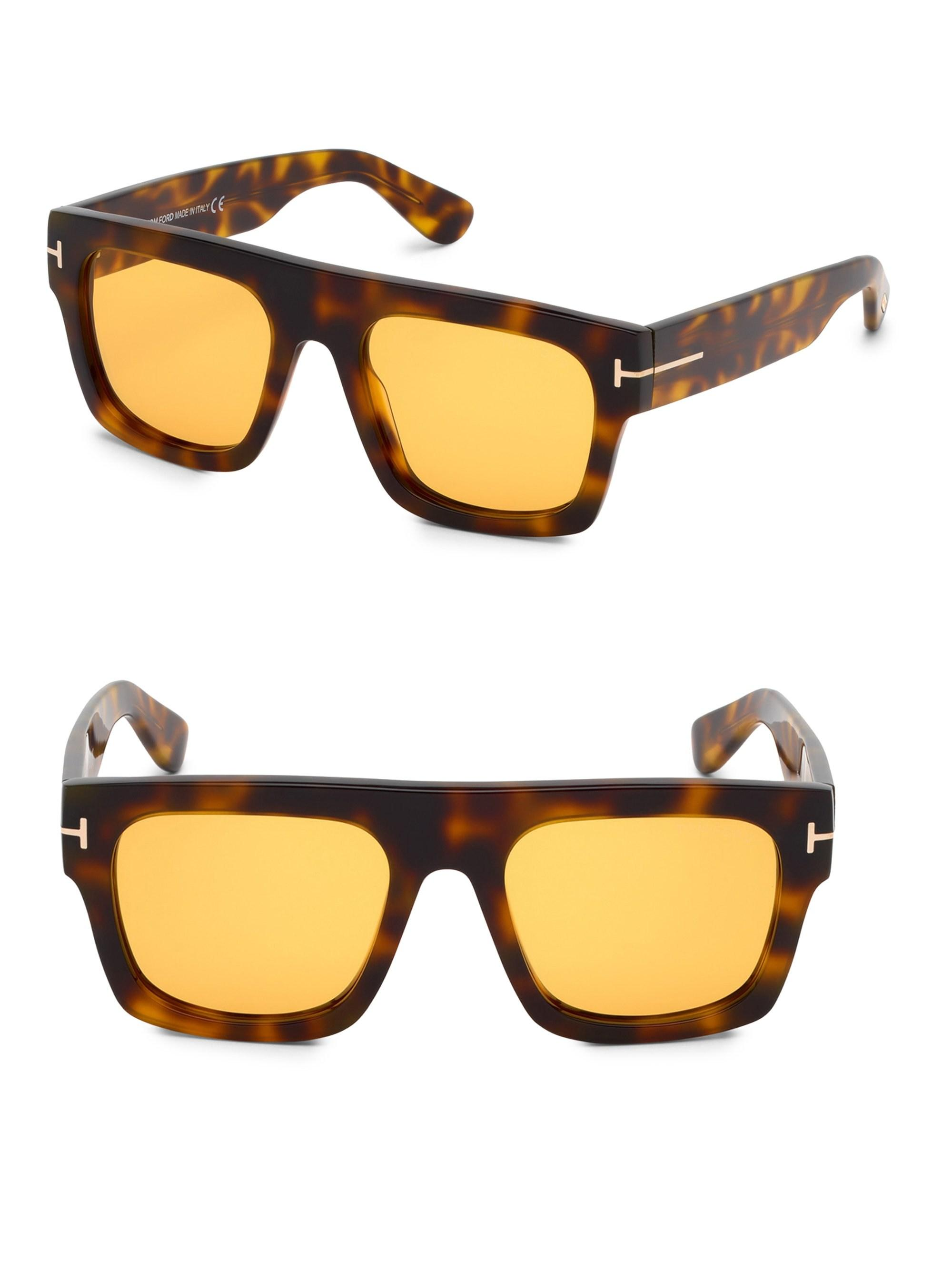 6c61d5fcee3 Lyst - Tom Ford Fausto 53mm Square Sunglasses for Men