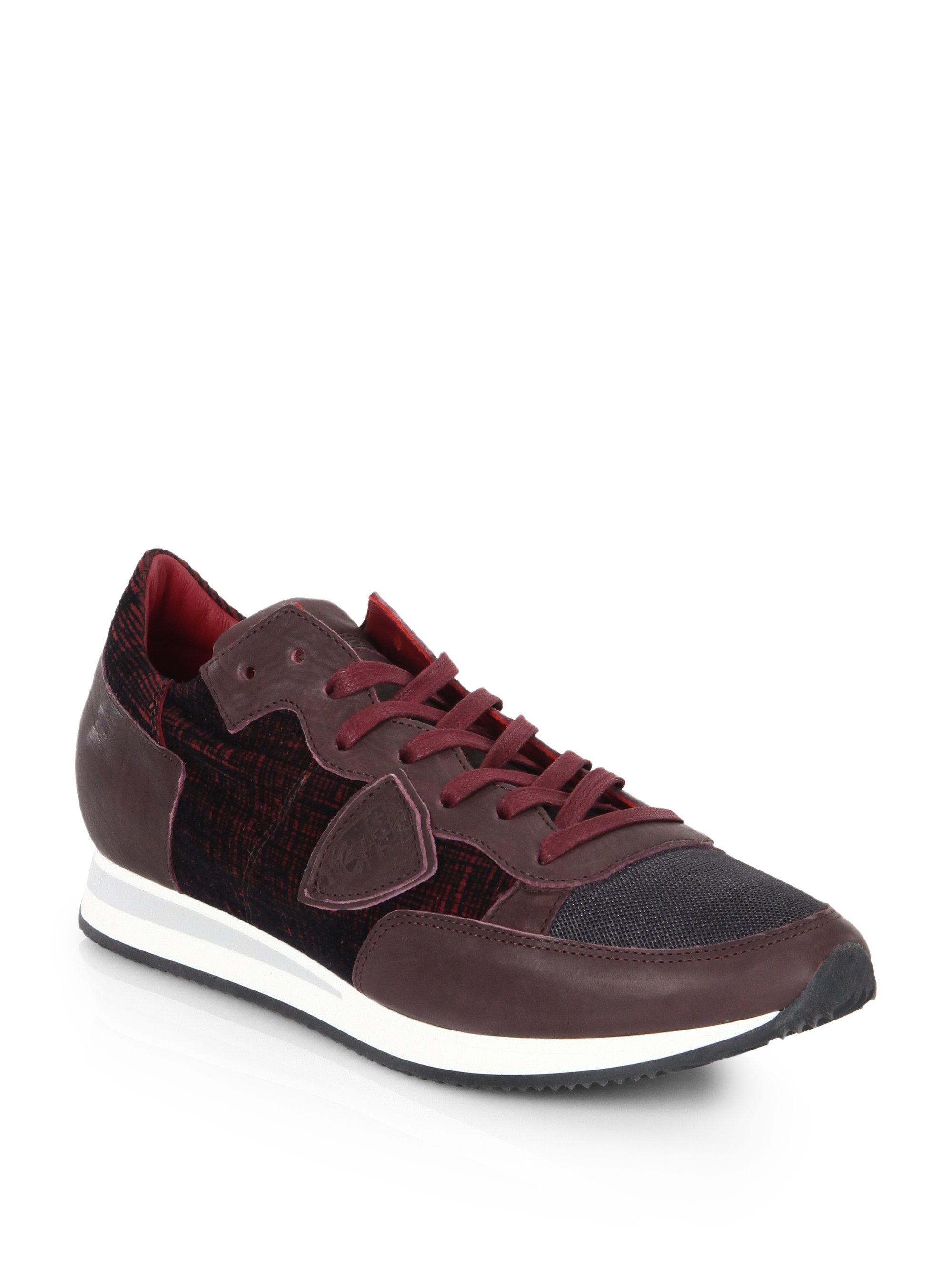 Philippe model Tropez Lace-Up Leather Low-Top Sneakers LtCiIfSJ