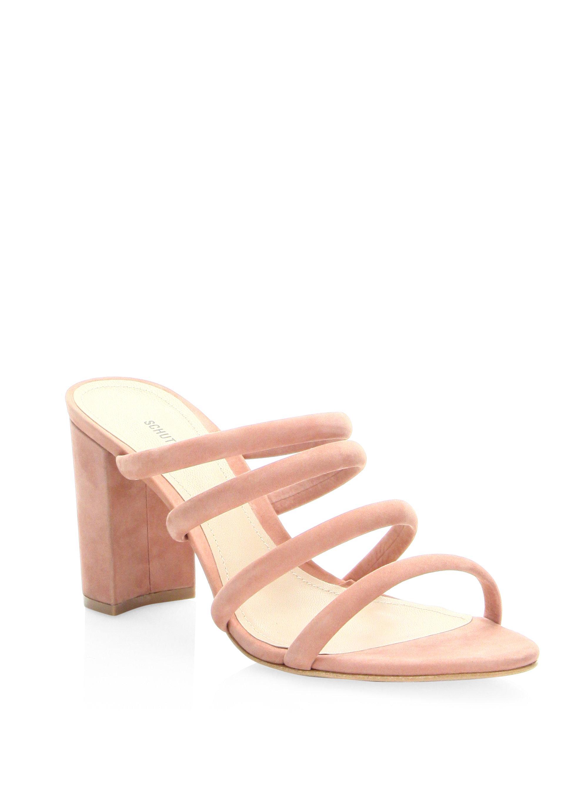 cf2438127804 Schutz Women s Felisa Suede Sandals - Poppy Rose - Size 6 - Lyst