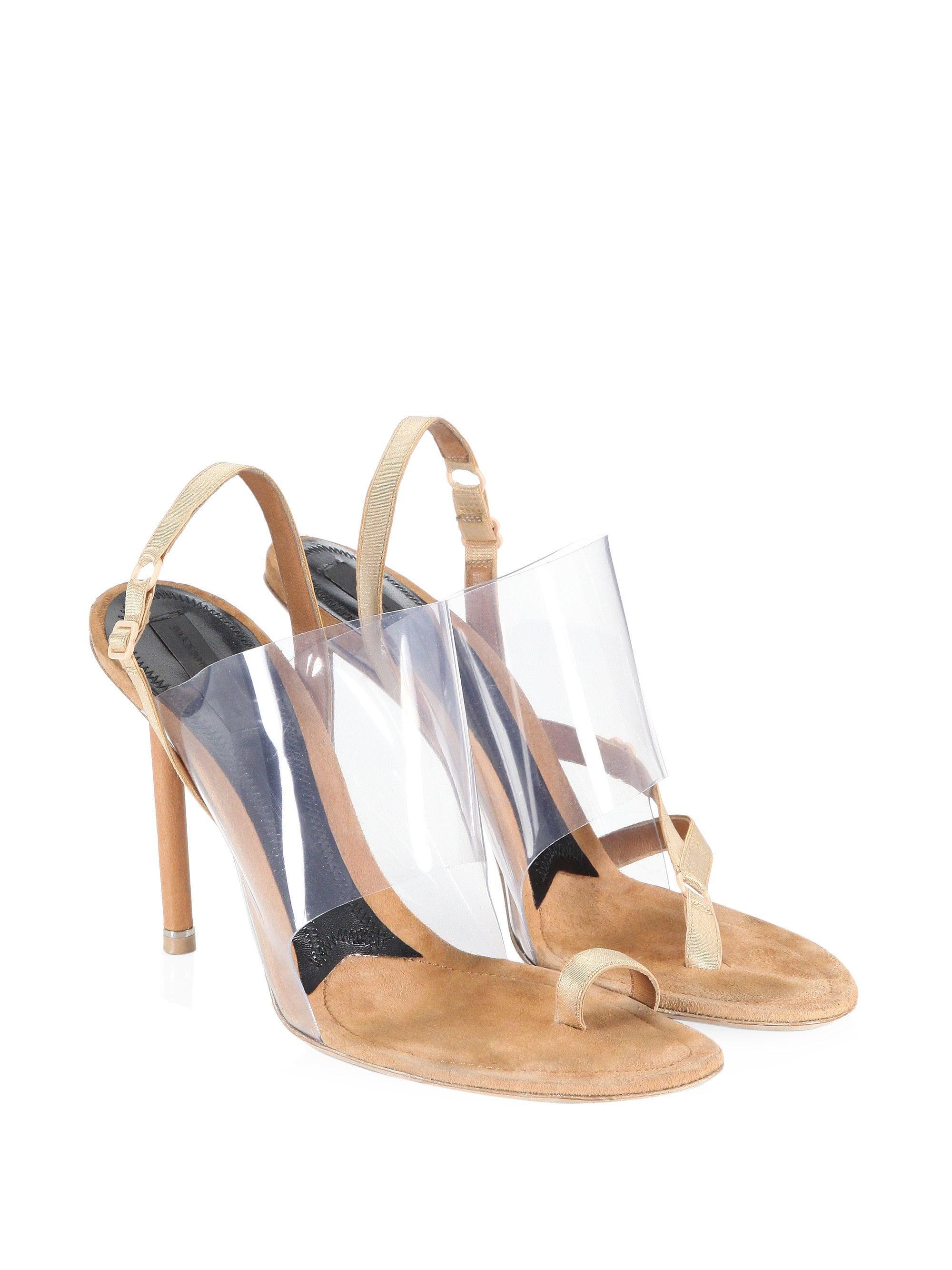 417f792adeb Lyst - Alexander Wang Kaia Pvc High Heel Sandals