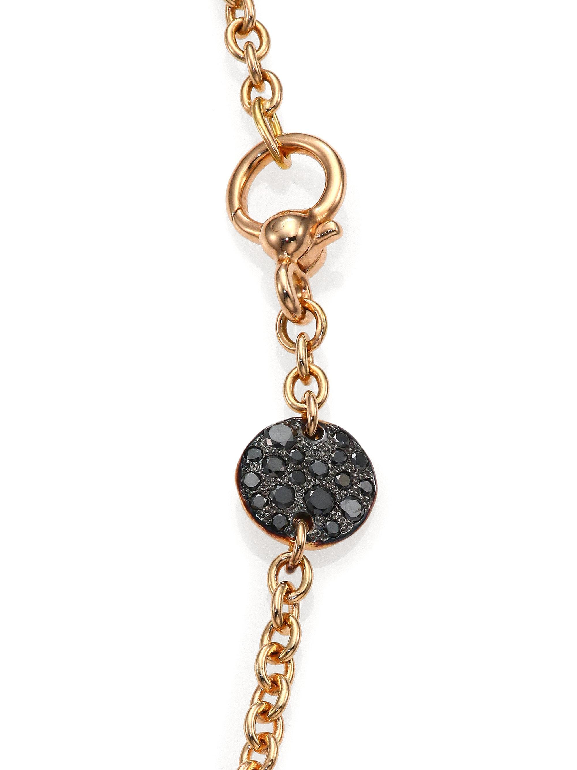 POMELLATO 18k Sabbia Black Diamond Pendant oybhV