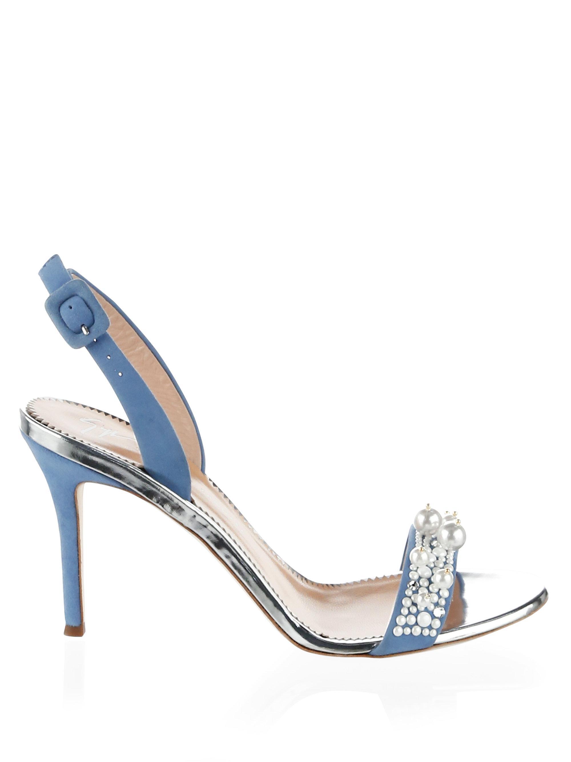 Giuseppe Zanotti Pearl embellished sling back sandals PBwpAiI5R