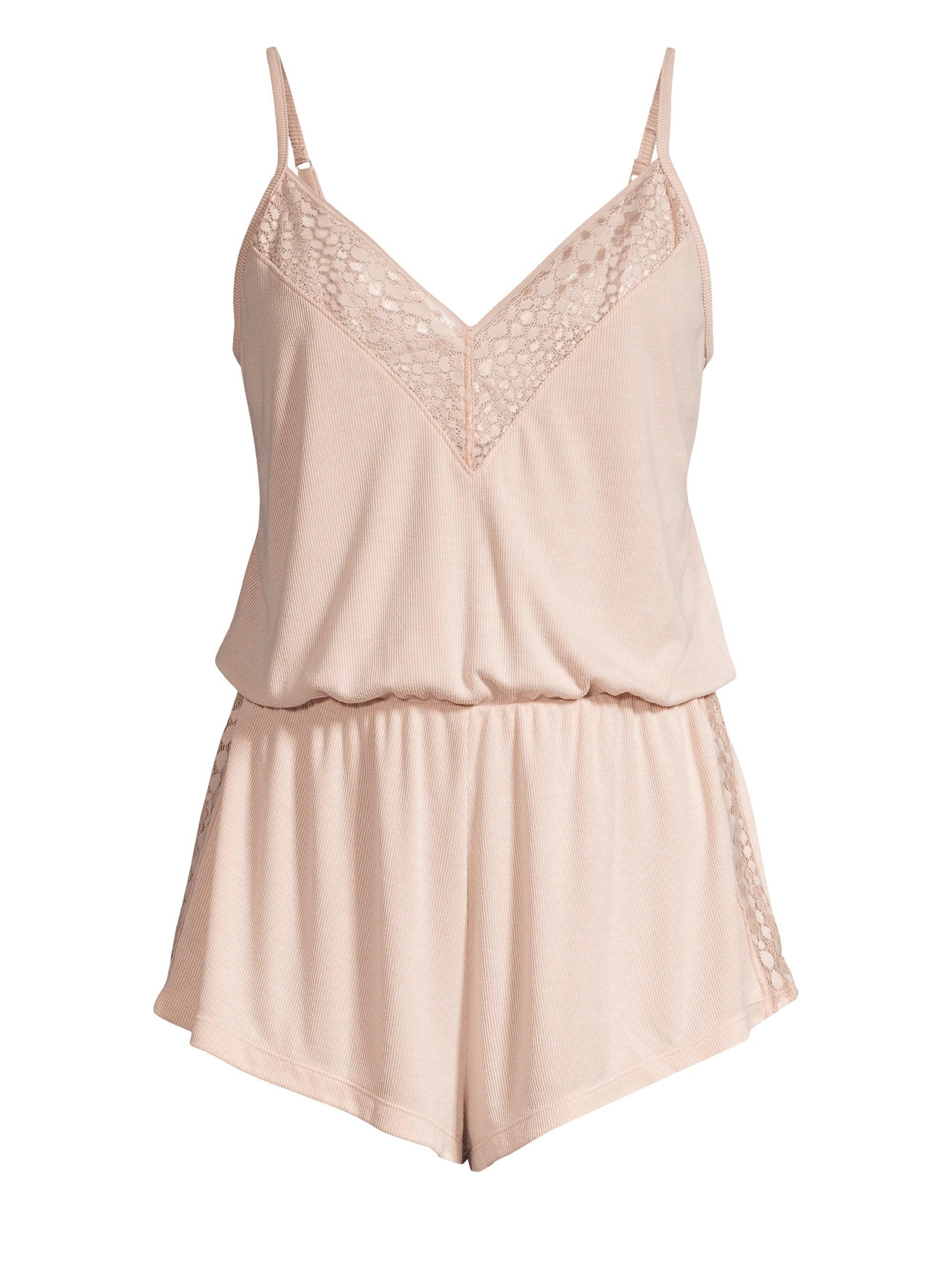 32dcd22527e2 Cosabella Women s Sweet Dreams Lace-trim Sleep Romper - Pink Dust ...