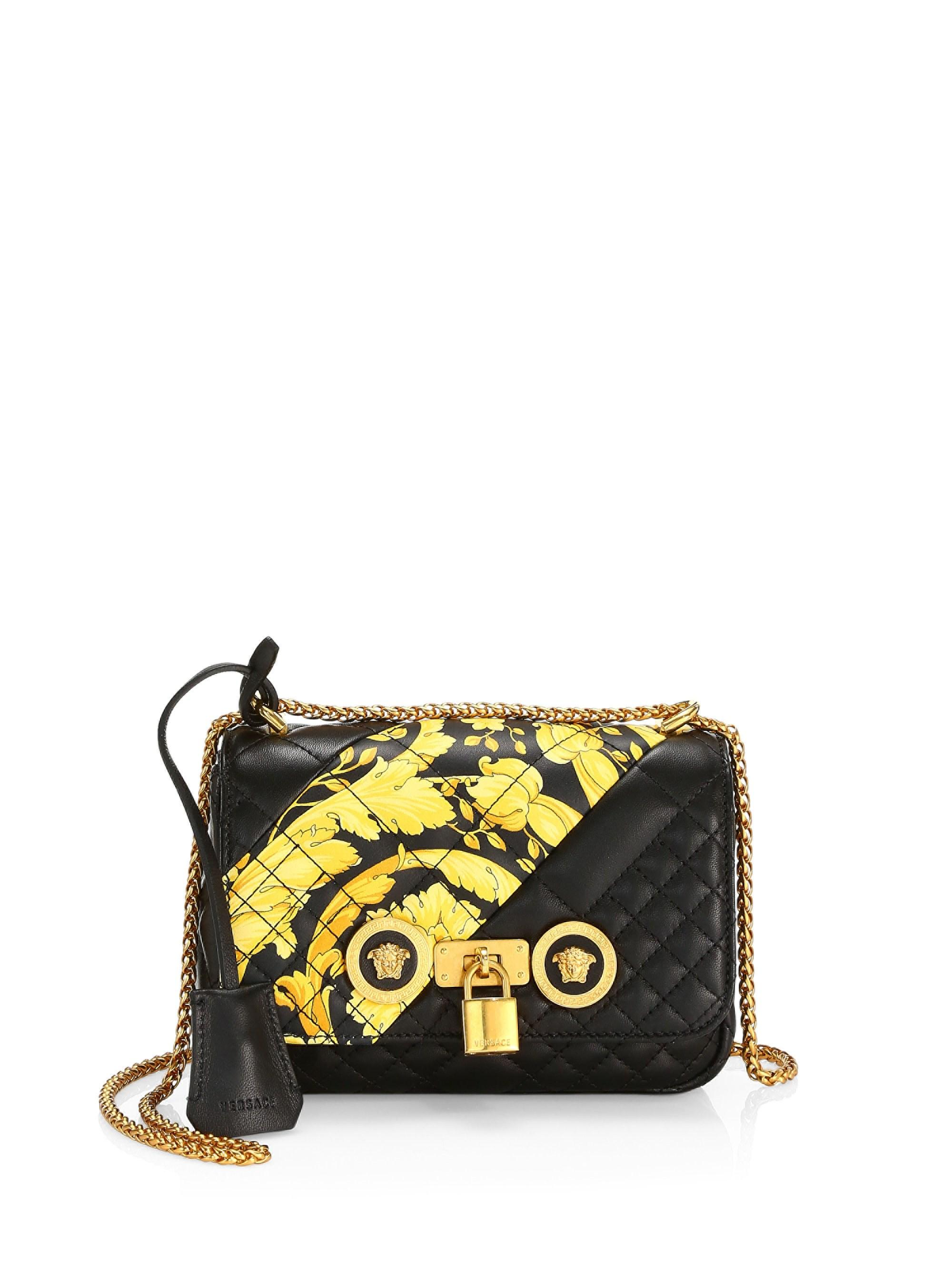 59c27f3ed6 Versace - Black Medium Icon Quilted Leather Shoulder Bag - Lyst. View  fullscreen