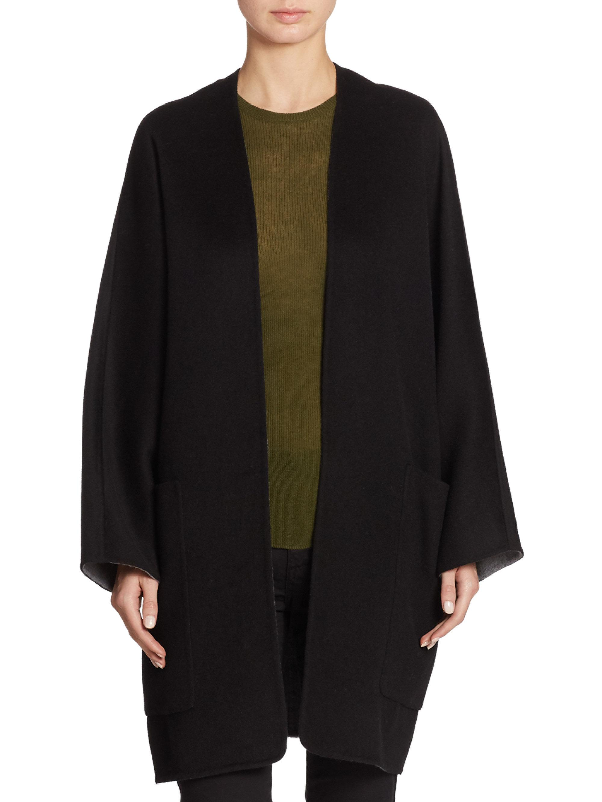 cc04598a1cb83 Lyst - Vince Reversible Cardigan Coat in Black