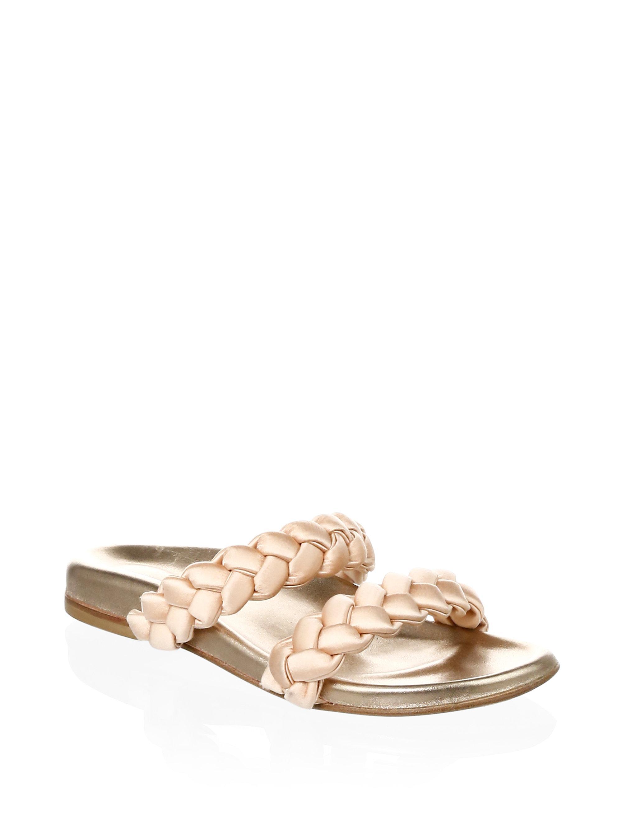 Oscar de la Renta Women's Charlee Satin Braid Slide Sandals e3m3HlgXK