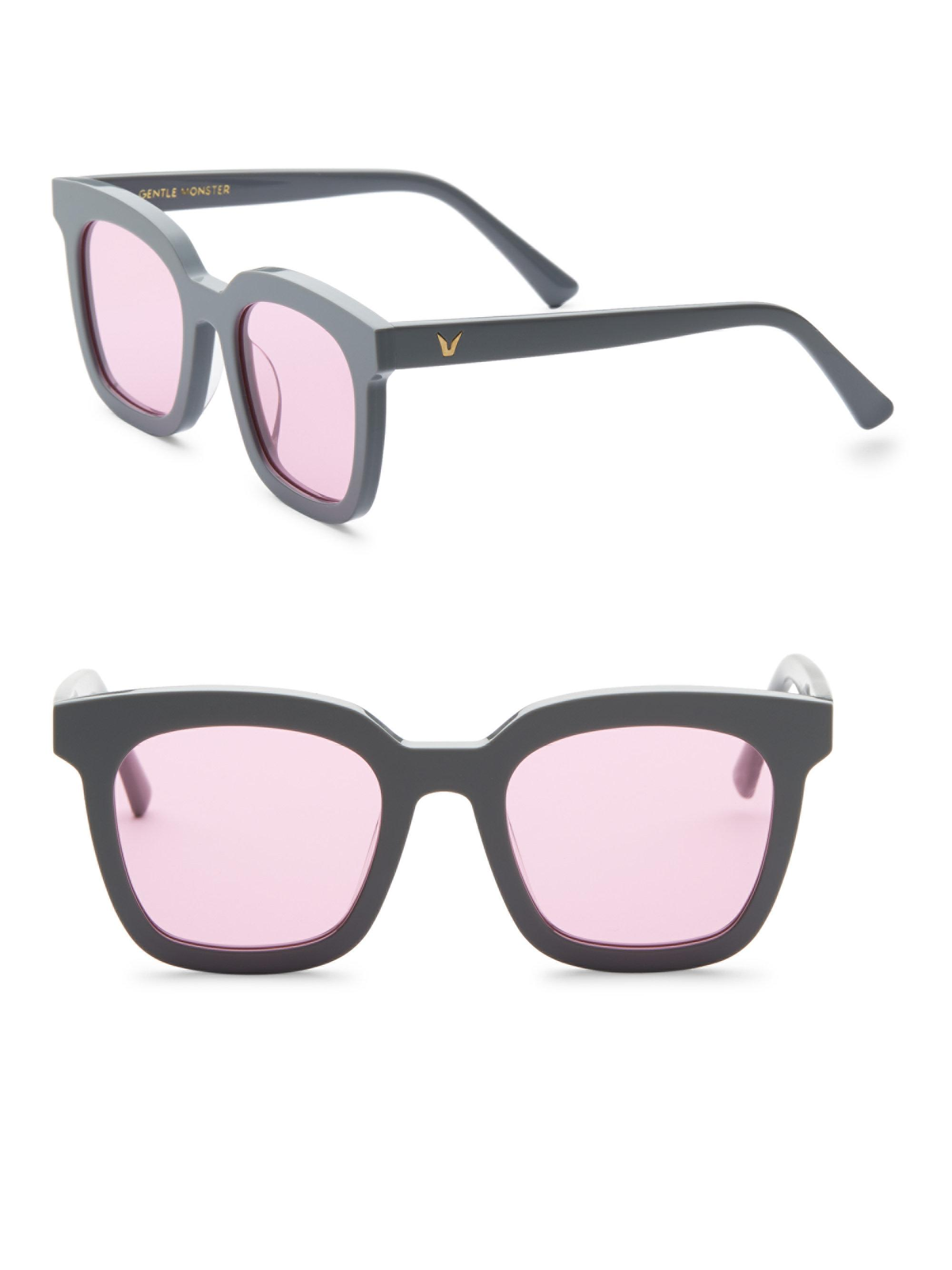 81562f12627 Lyst - Gentle Monster Finn 50mm Retro Square Sunglasses in Gray