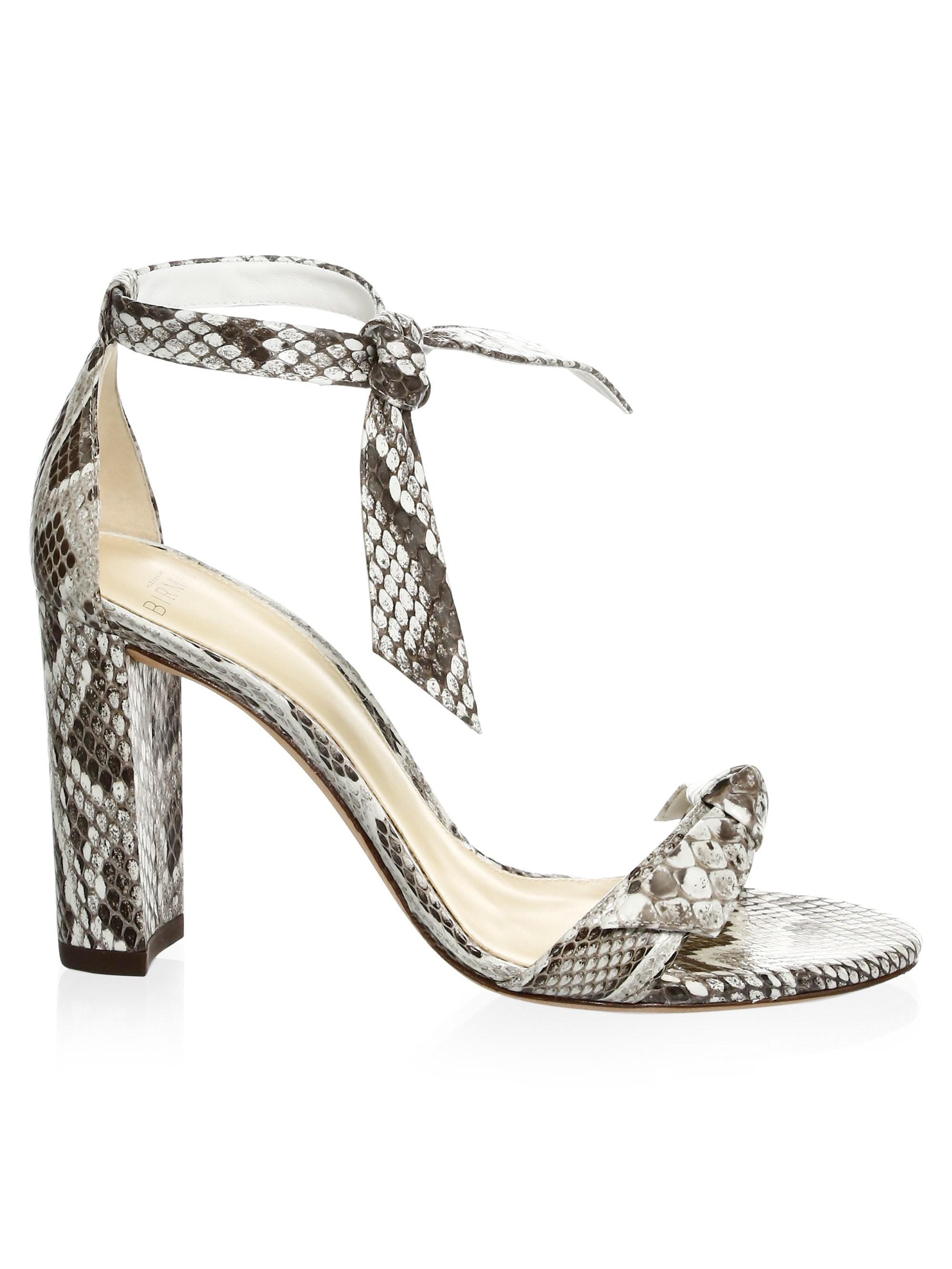 cab59b7d2555 Lyst - Alexandre Birman Clarita Python Block Heel Platform Sandals ...