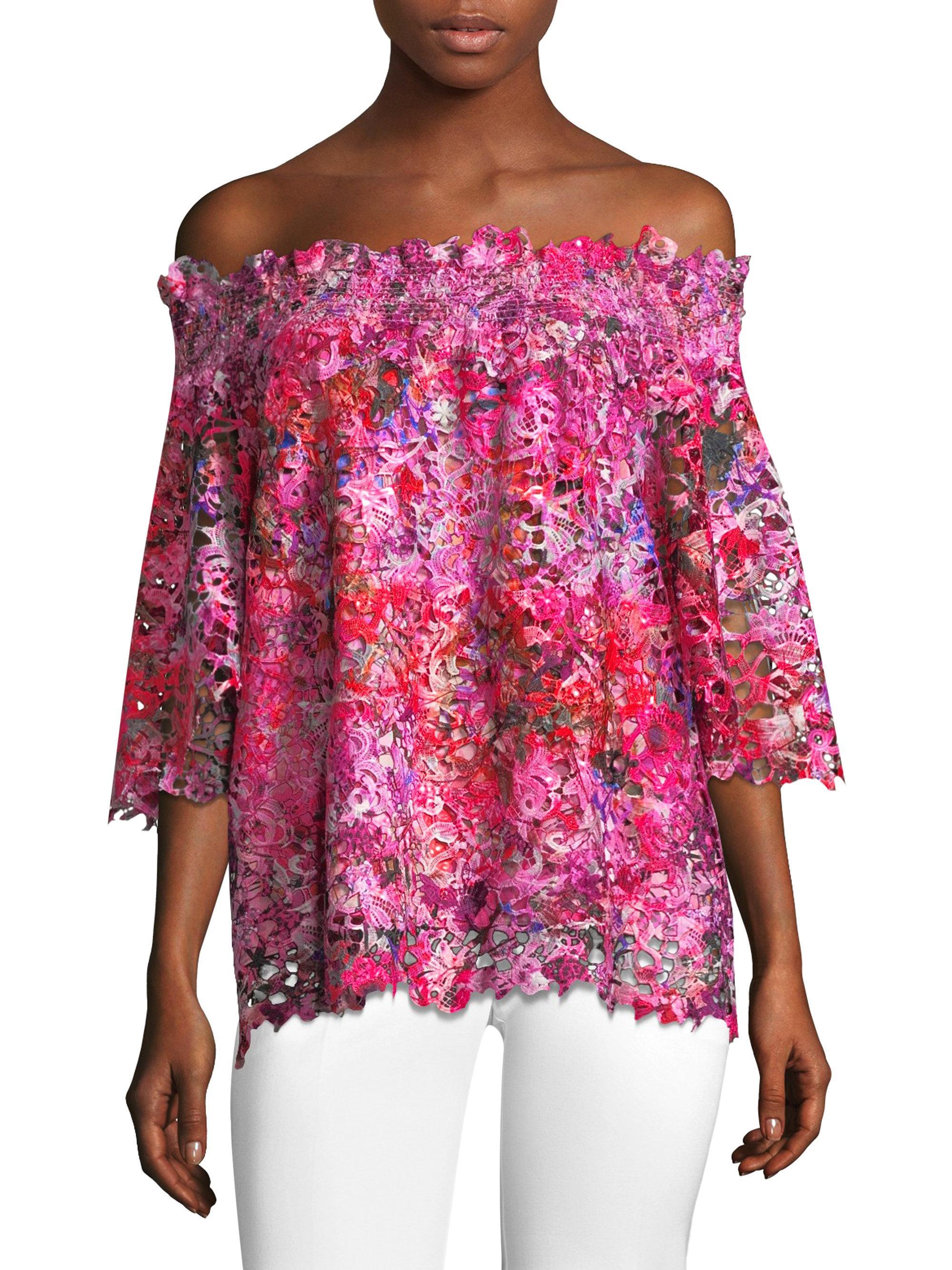 Pink Flower Blouse Lauren Goss