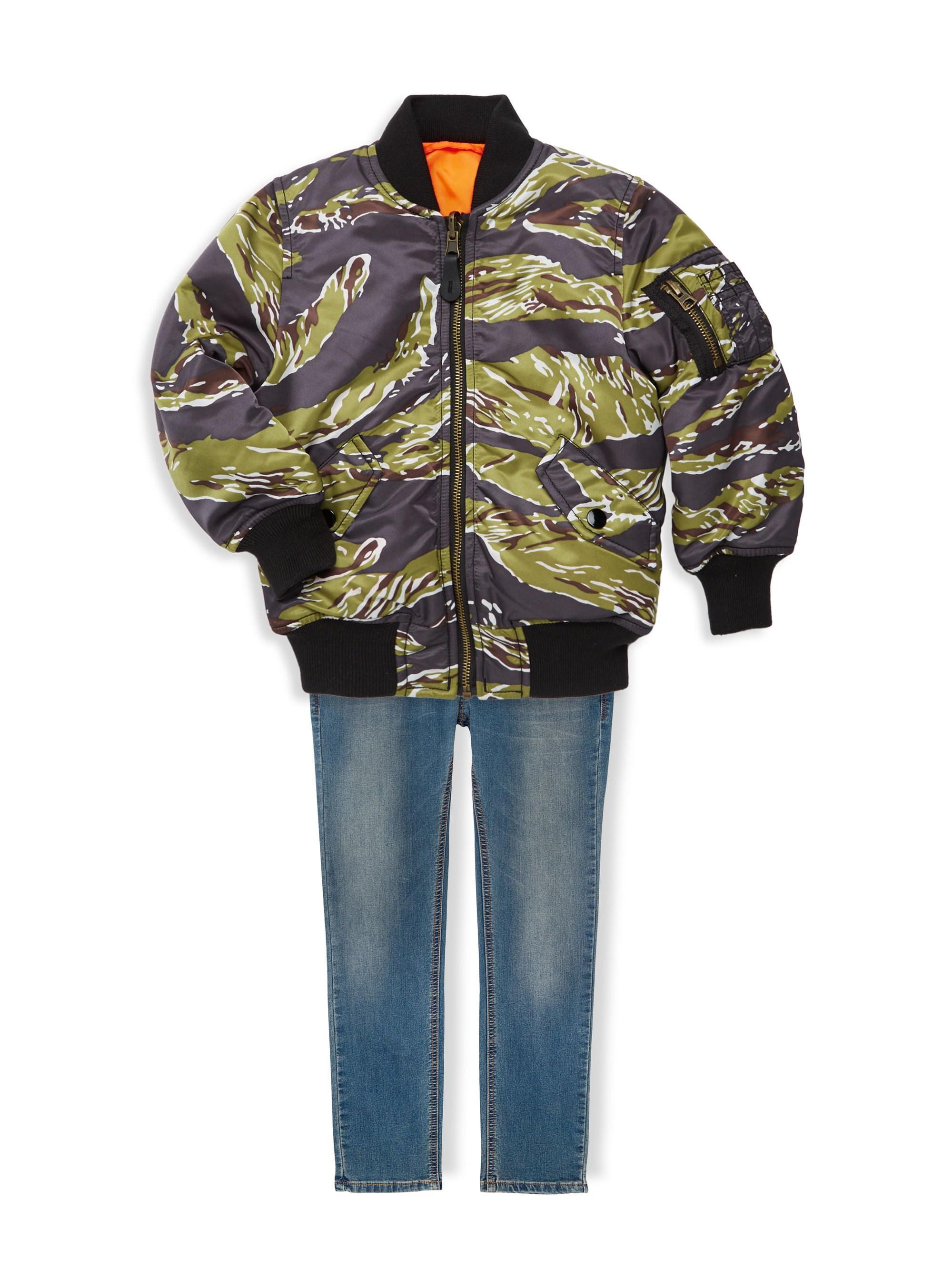 ad0d70bec2445 Alpha Industries - Green Little Boy's And Boy's Tiger Camo Bomber Jacket  for Men - Lyst. View fullscreen