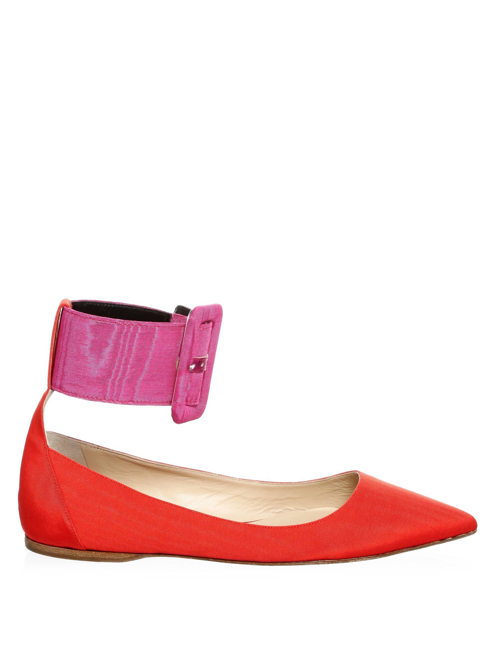ATTICO Ankle Belt Ballet Flats 19IayjFEC