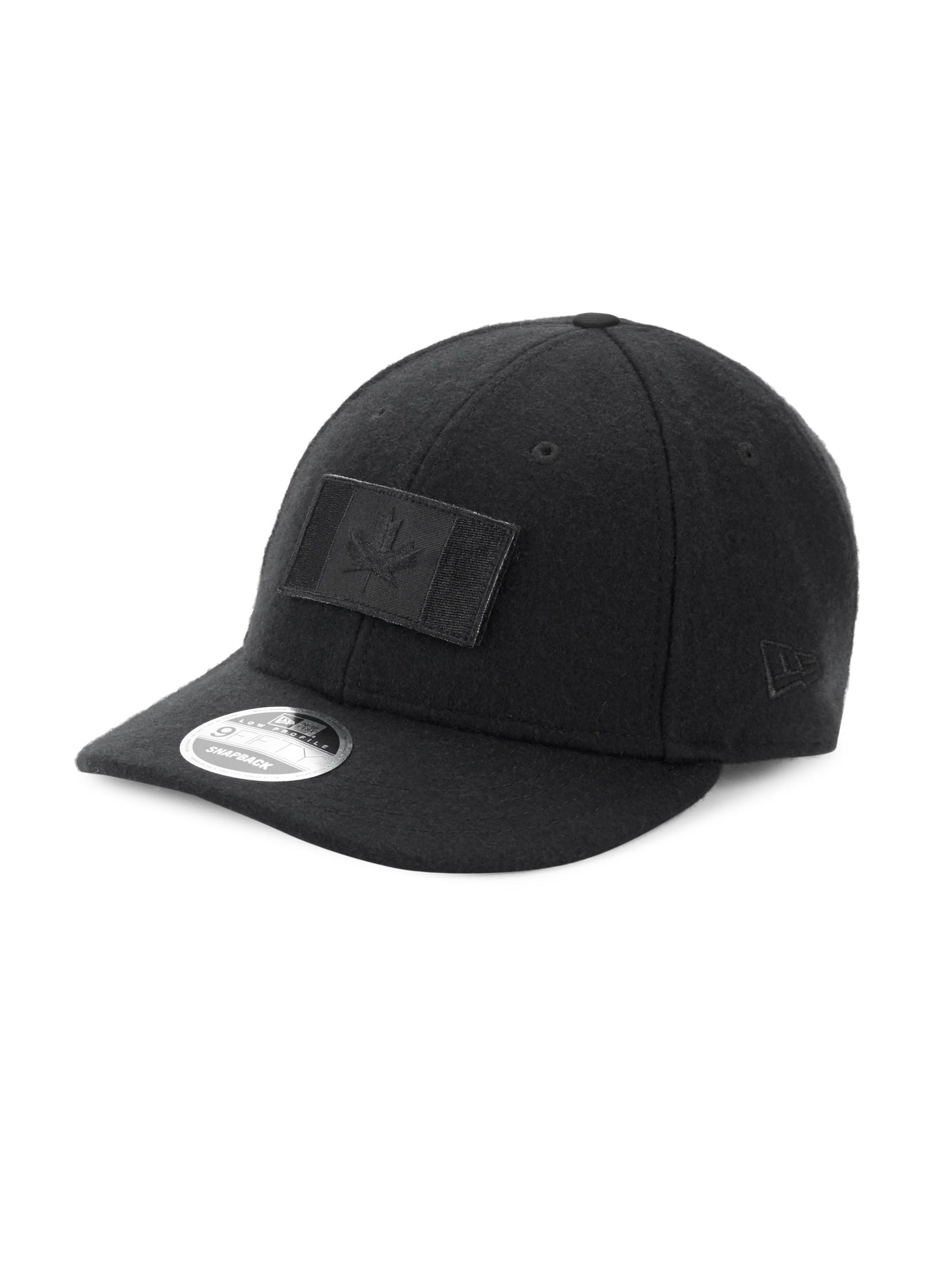 e112441cabf Canada Goose Melton Wool Baseball Hat in Black for Men - Lyst