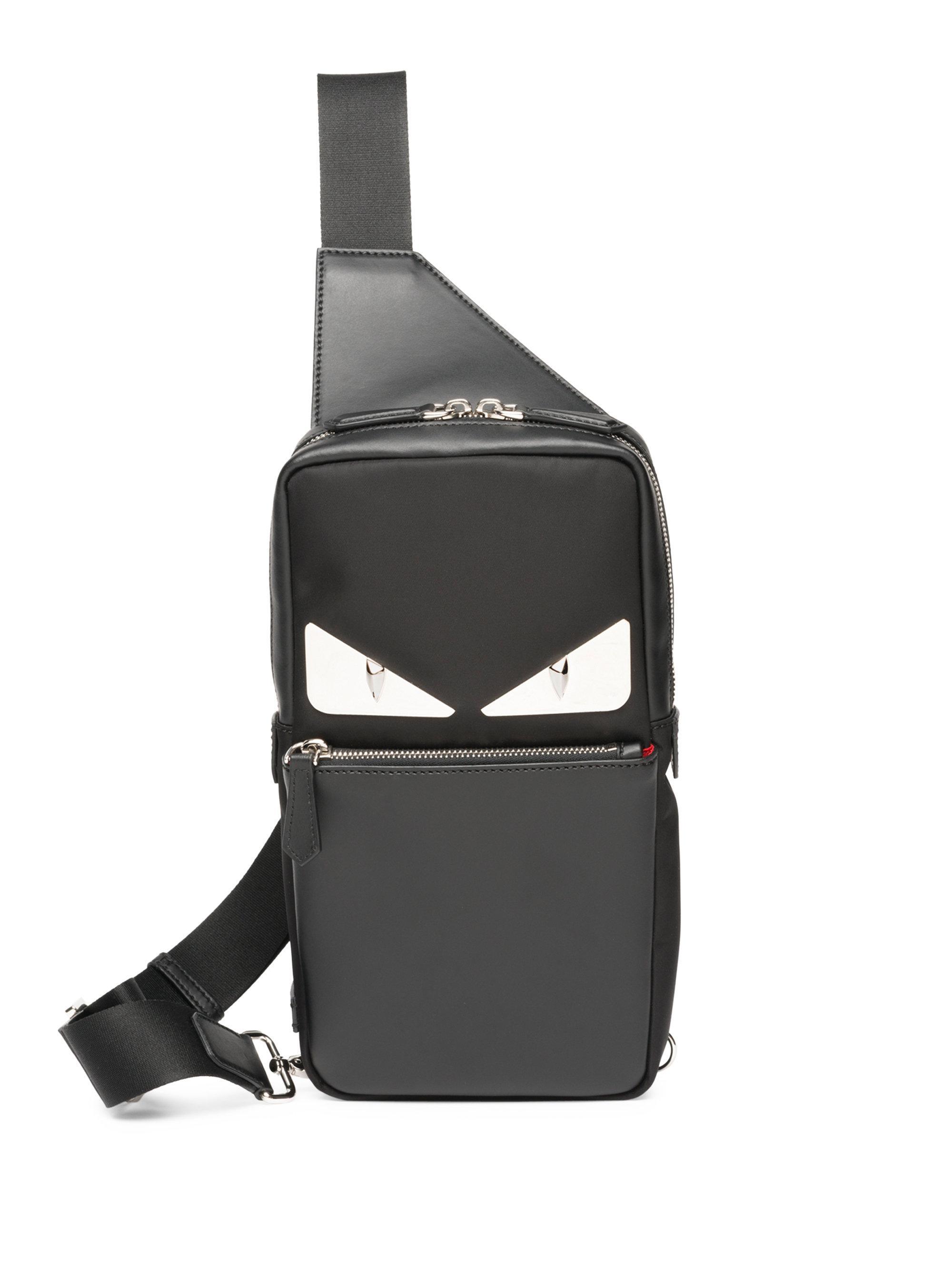 b9455edc2c45 Fendi Monster Crossbody Bag in Black for Men - Lyst