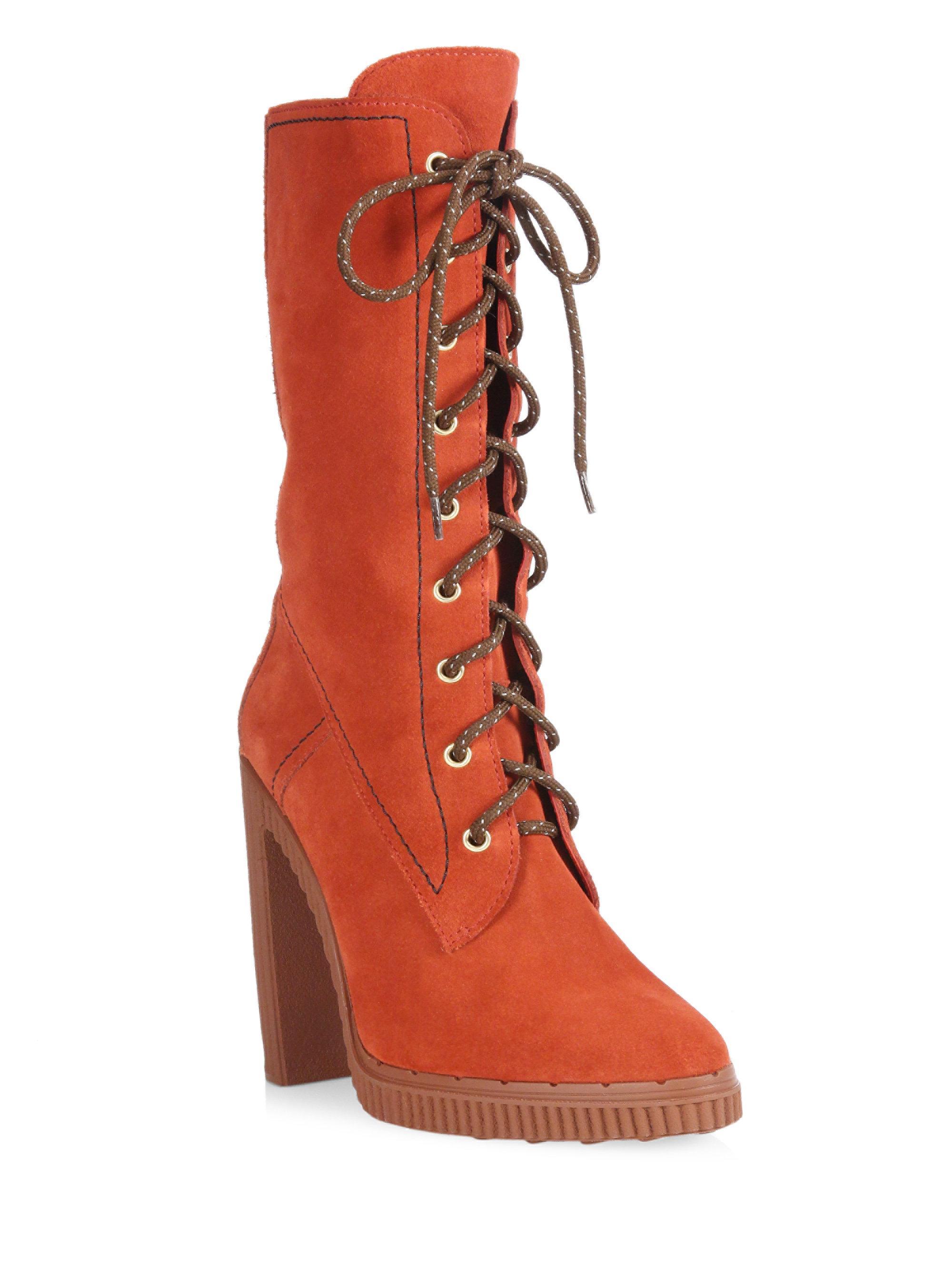 Tod's Lace-Up Block Heel Boots zDPvm6j9b