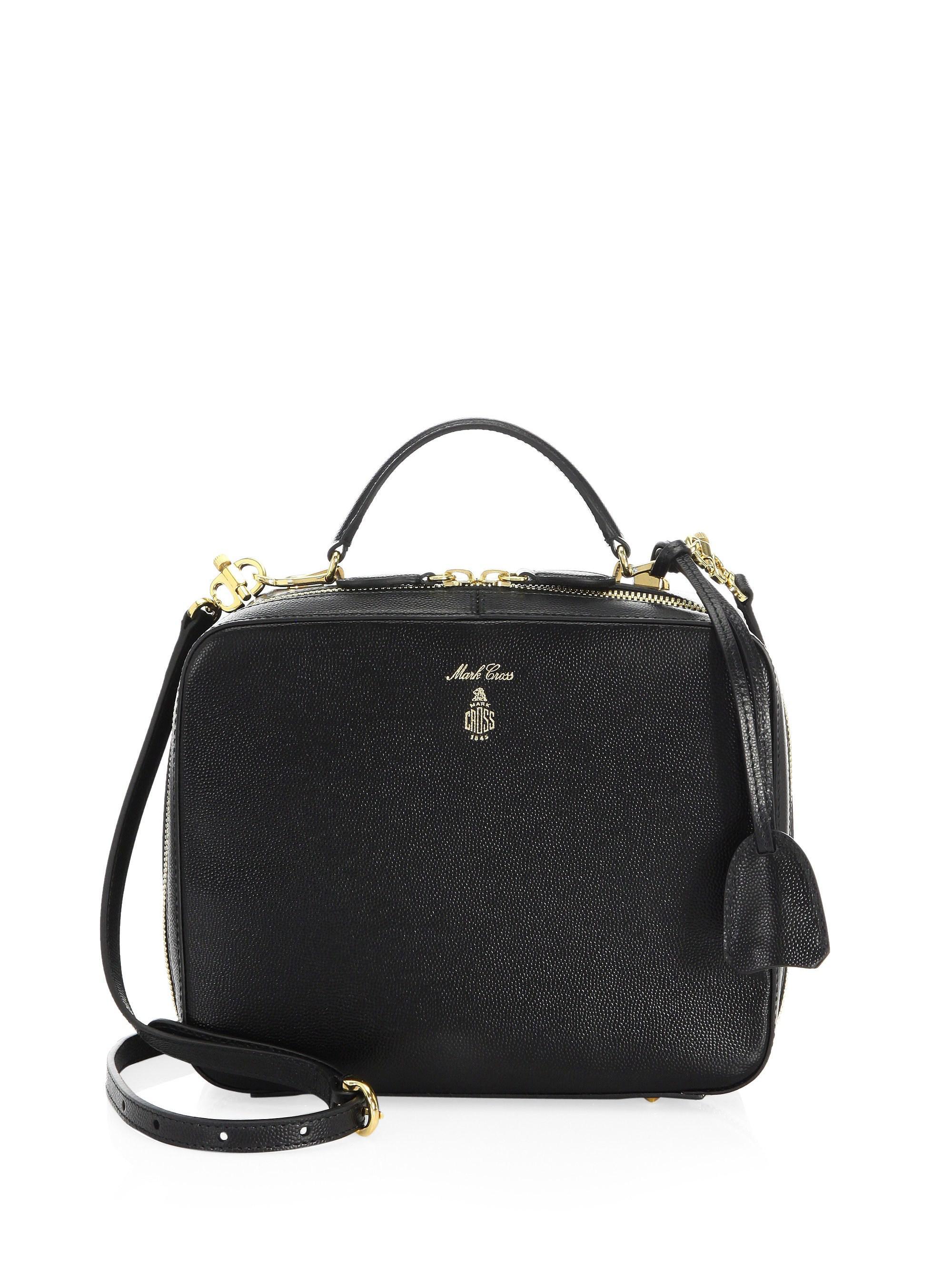 e31770681e1 Lyst - Mark Cross Laura Leather Mini Bag in Black