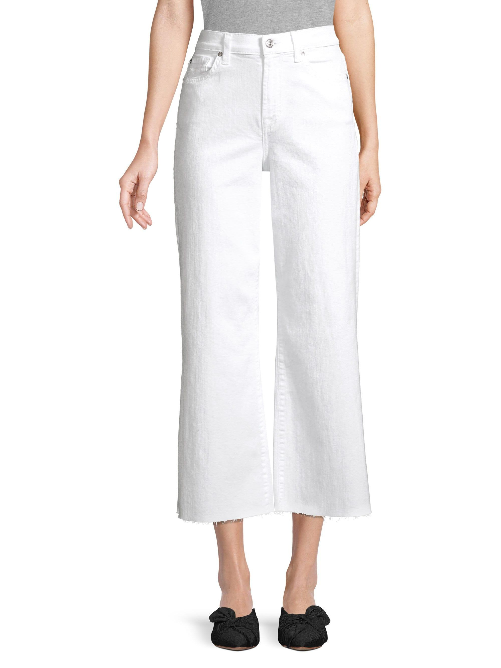 3c8ca8868c4 Lyst - 7 For All Mankind Women s Alexa Cropped Wide-leg Jeans ...