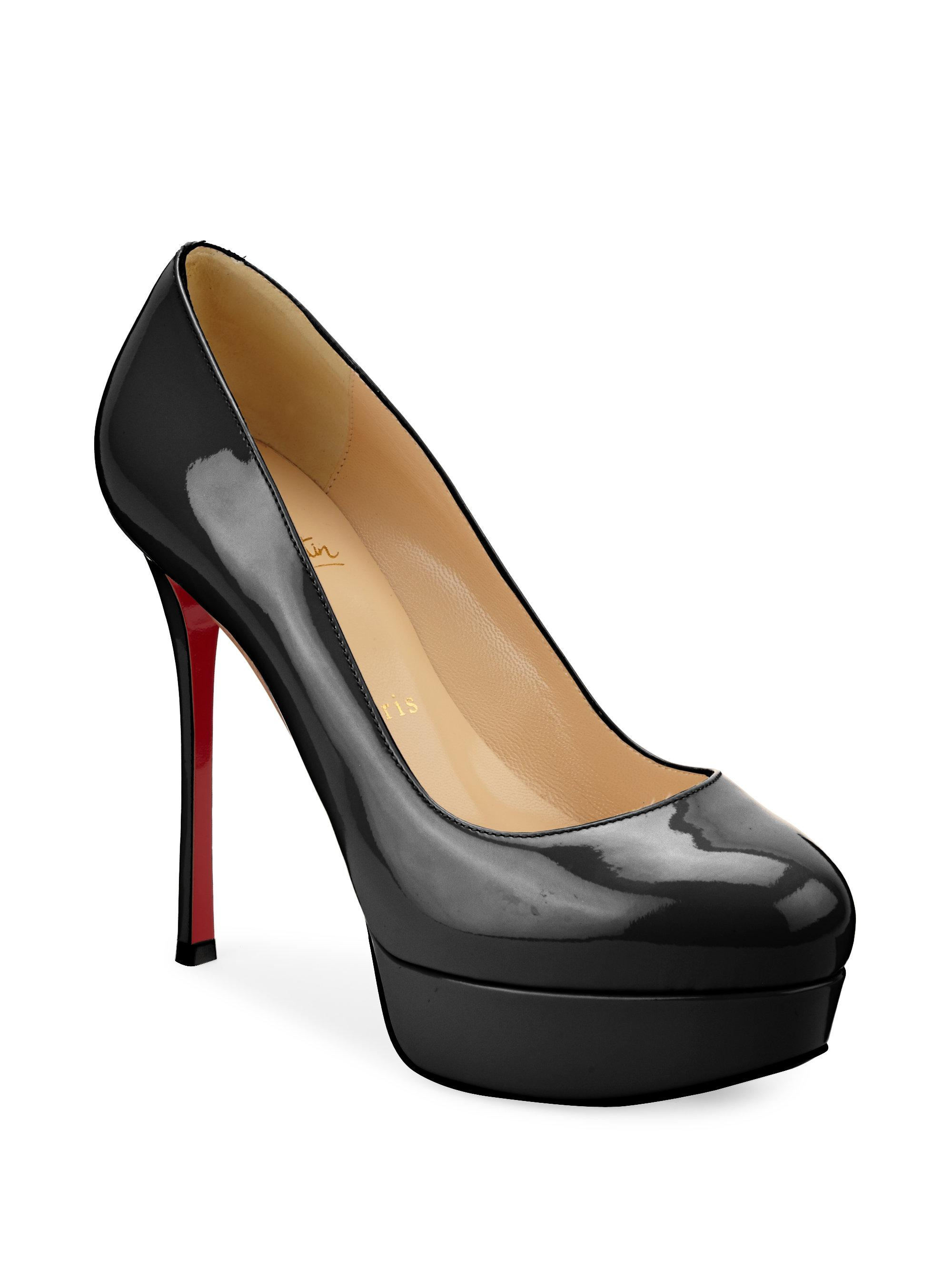 8d24f969163 Lyst - Christian Louboutin Dirditta 130 Patent Leather Pumps in Black