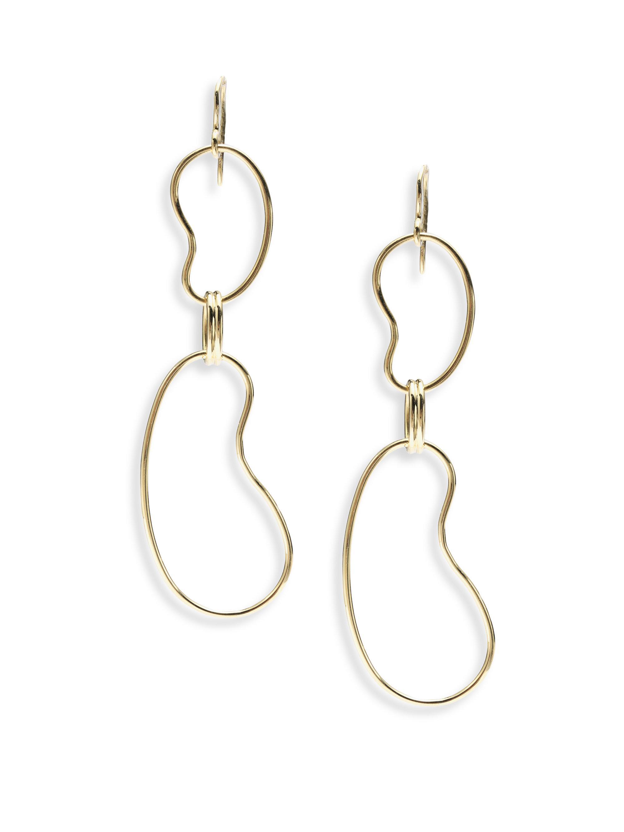 Ippolita 18K Classico Kidney Link Drop Earrings 3kdomxR