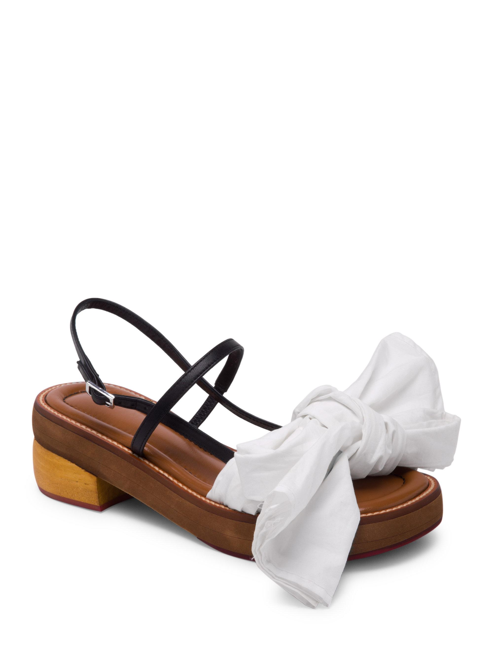 Marni Fabric bow sandals inbV4VE0FB