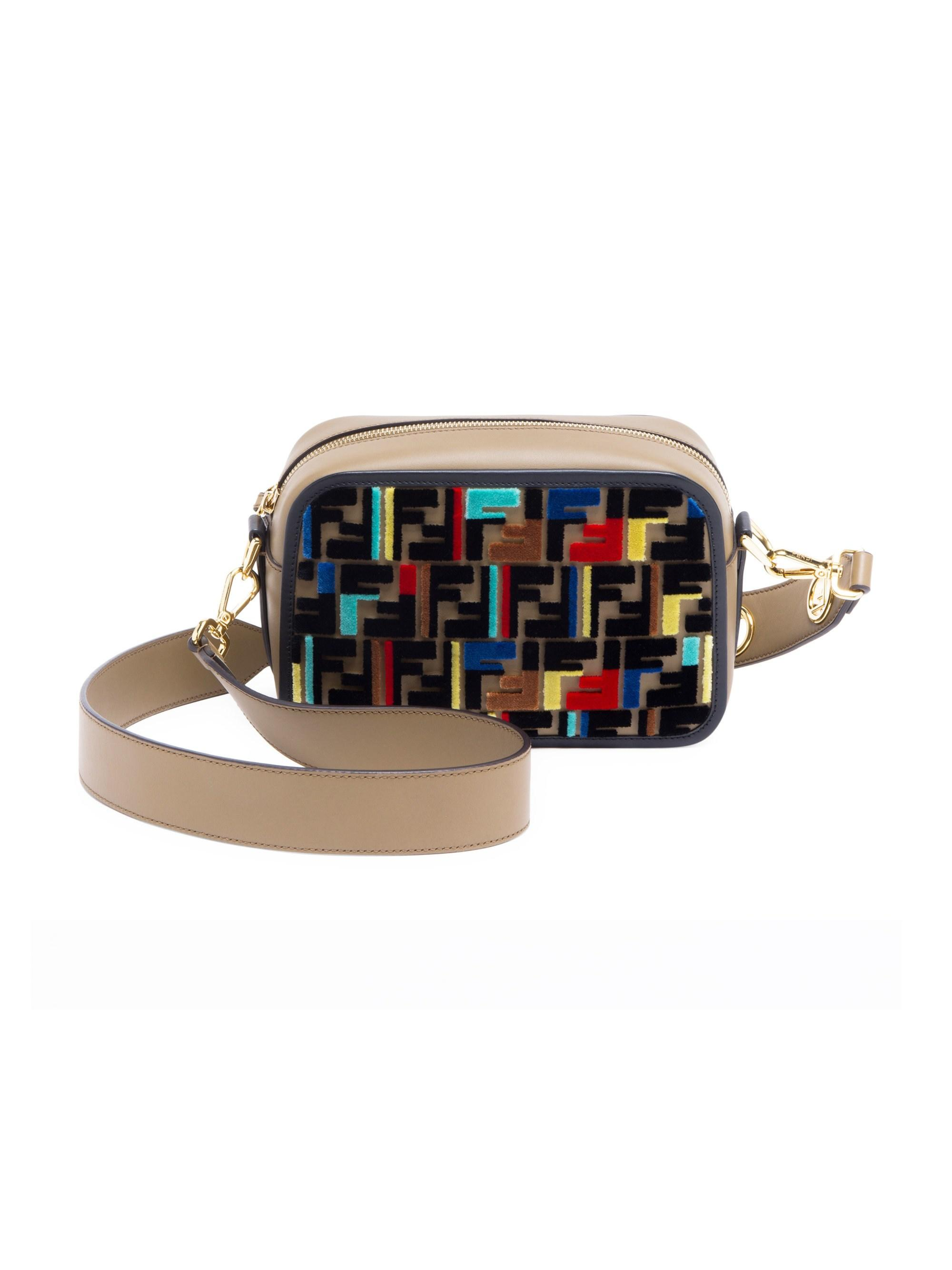 5cbe228eebd5 Lyst - Fendi Women s Tappetino Embroidered Camera Bag