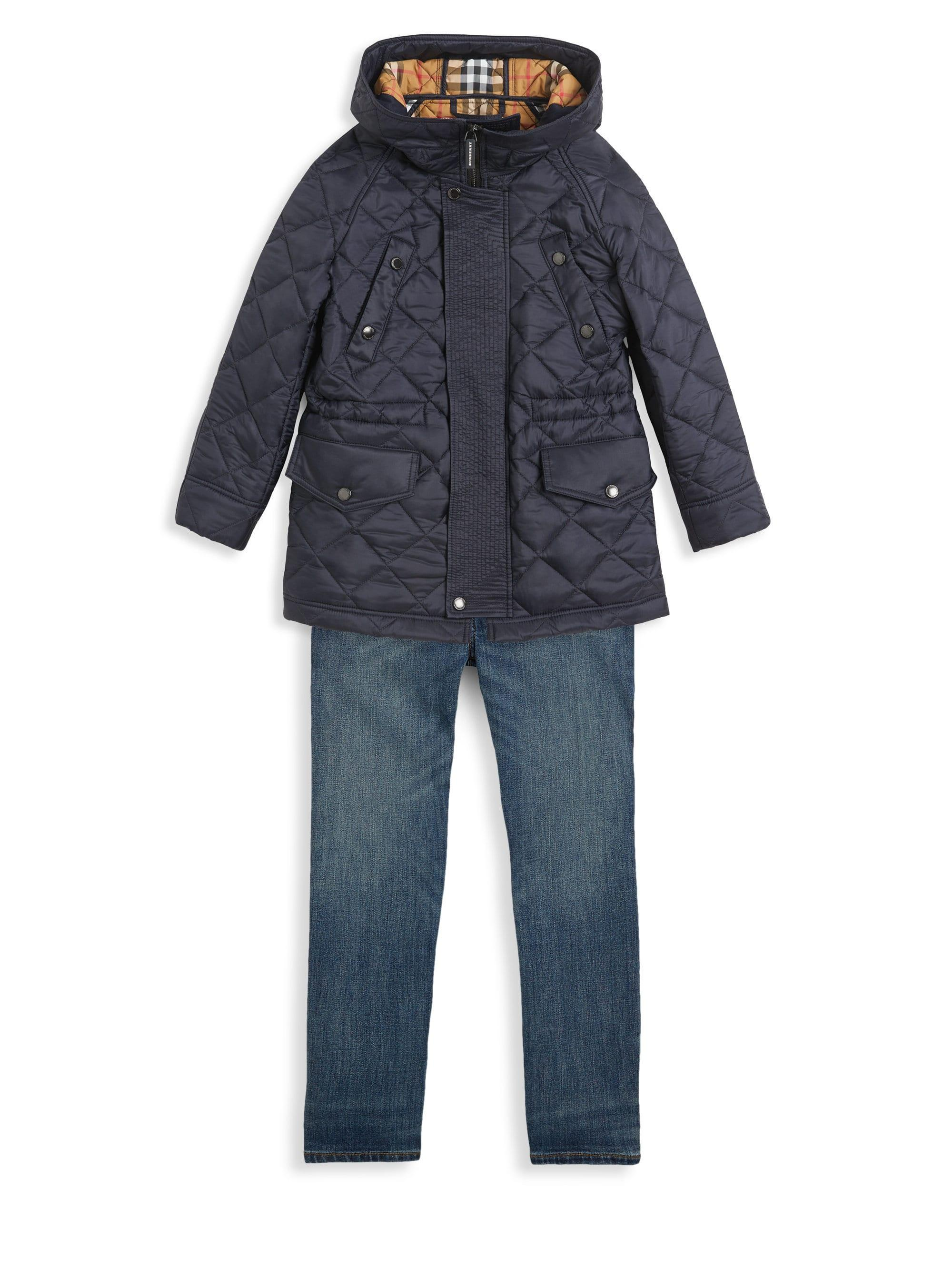 Lyst Burberry Little Kid S Kid S Quilted Jacket In Blue