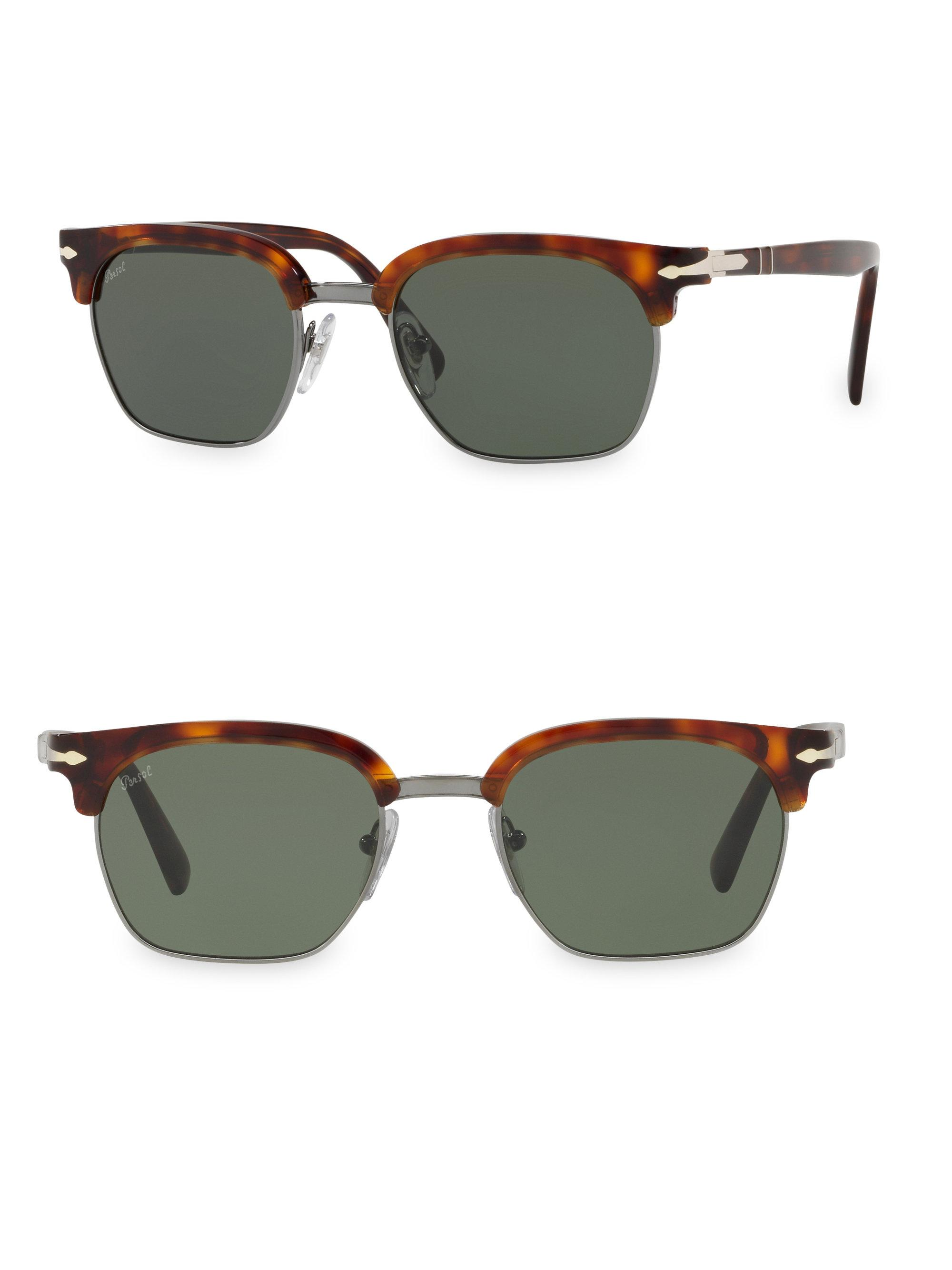 1c887712ae Persol Tailoring Edition Clubmaster Tortoise Sunglasses in Green for ...