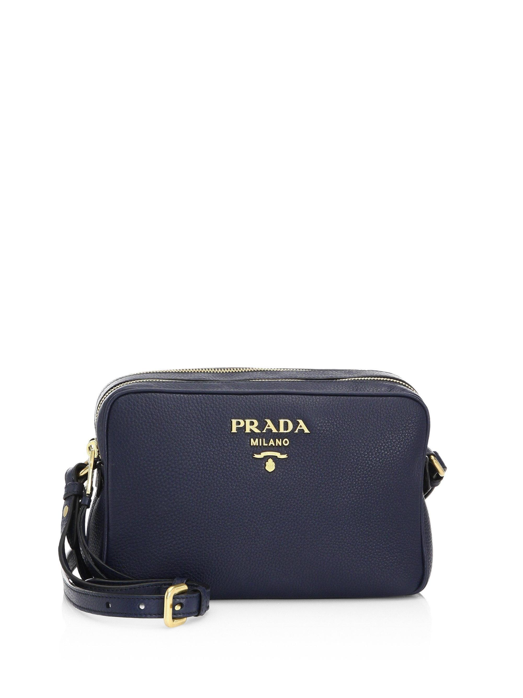 6d2014882713 reduced lyst prada saffiano leather camera bag in gray 6f461 e16dc; get lyst  prada daino crossbody camera bag in blue 35ad4 783fc