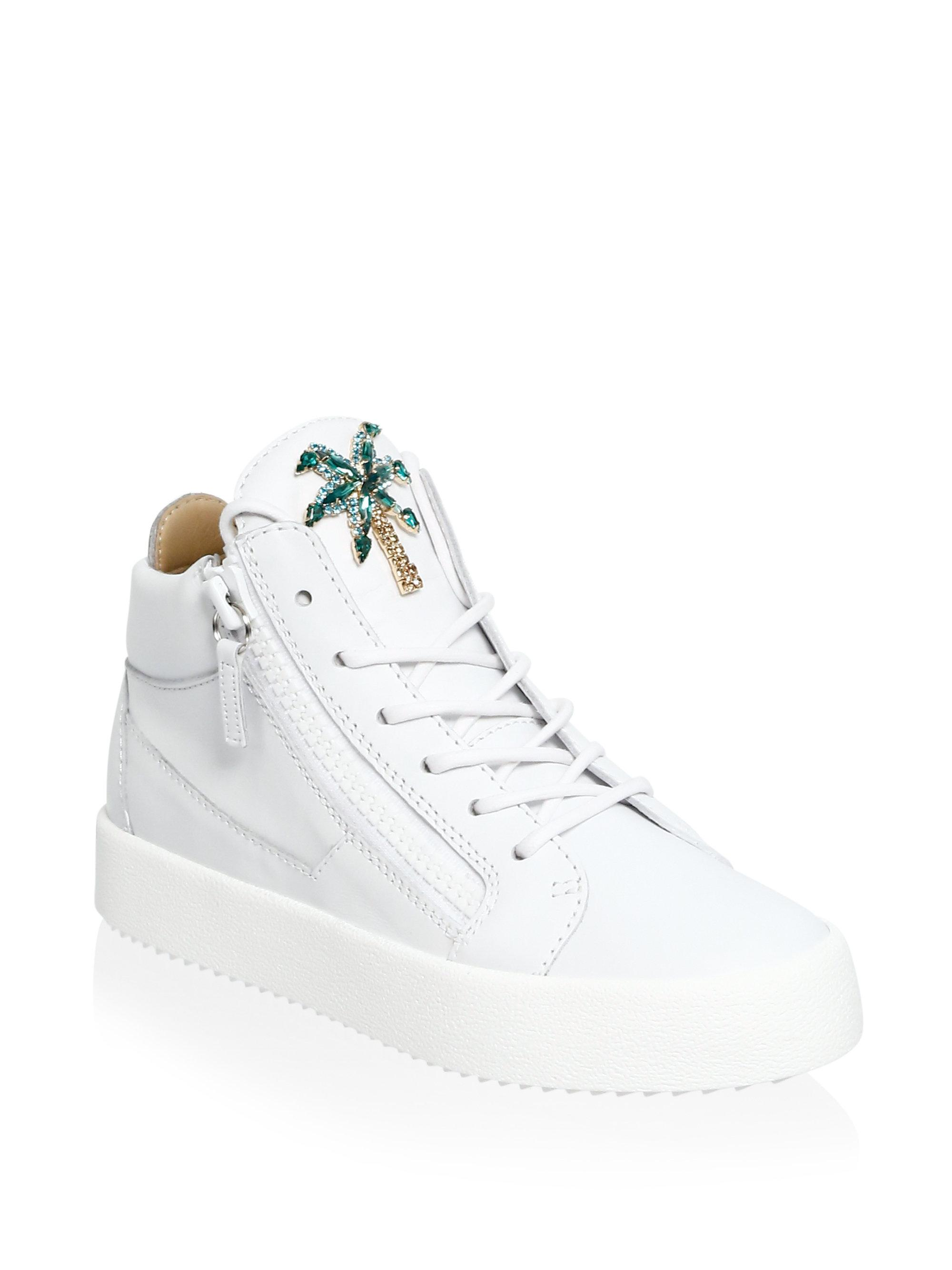 Giuseppe Zanotti May London Palm Tree Leather Sneakers err1kgg