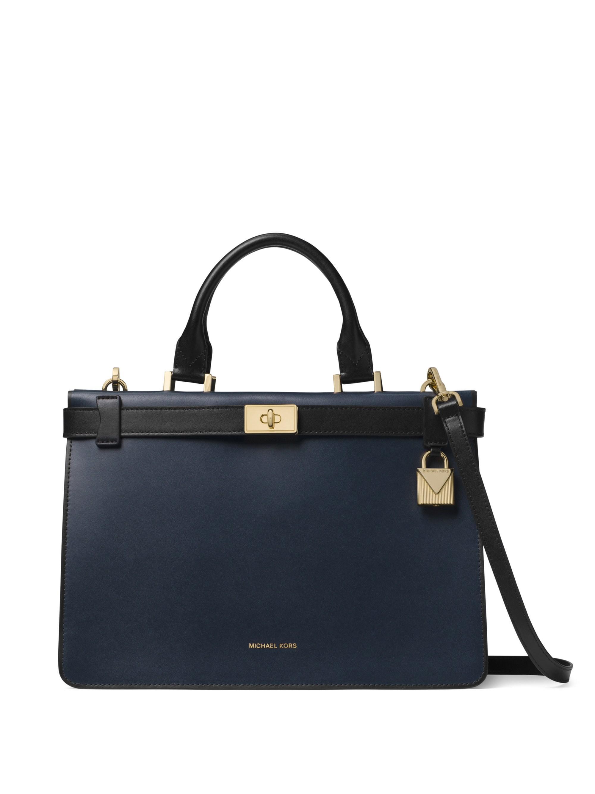4ecd60d24b7b4b Michael Michael Kors Tatiana Medium Leather Satchel in Blue - Lyst