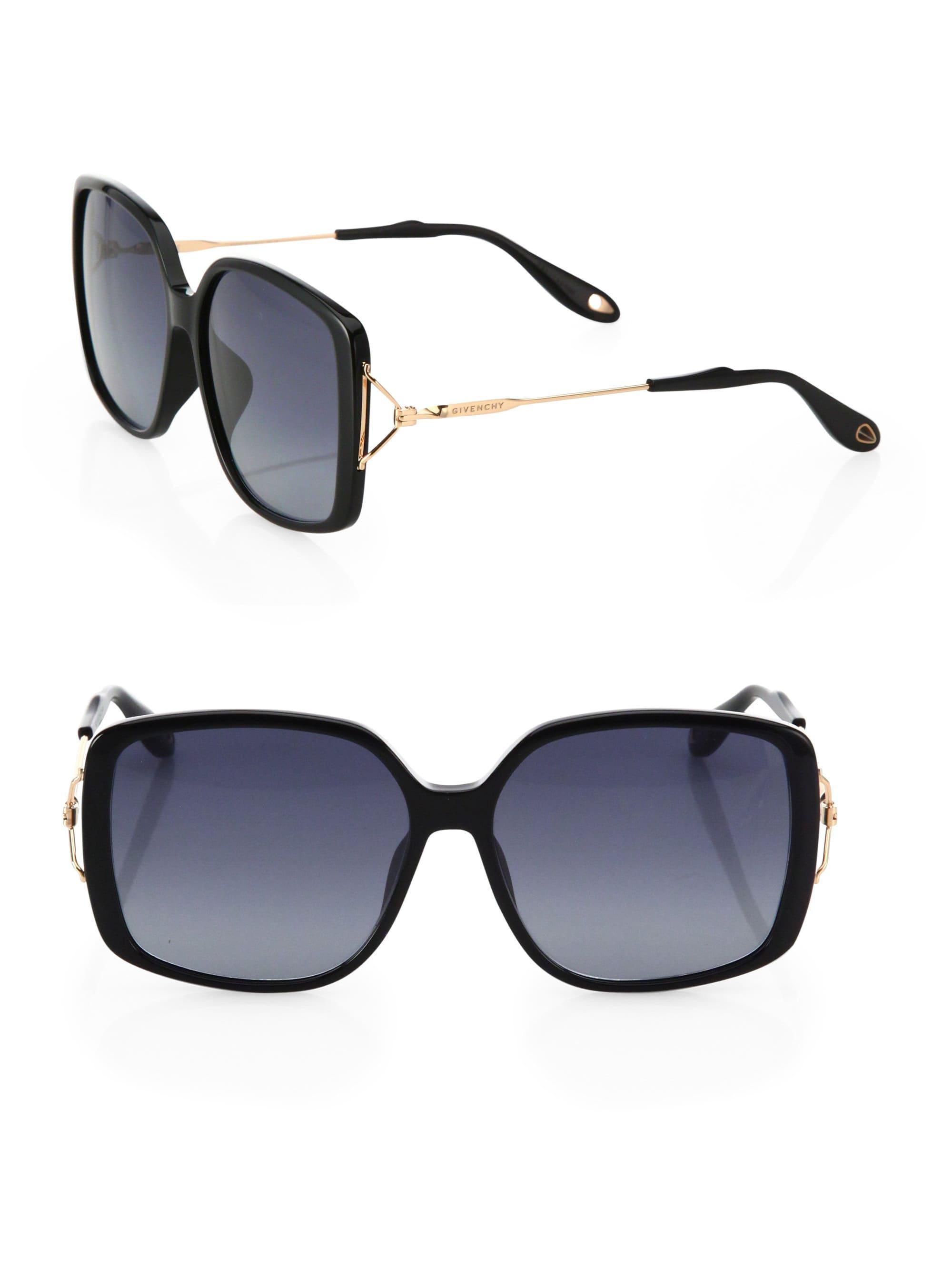 7cb3e2ebf88 Lyst - Givenchy Women s 58mm Oversized Square Sunglasses - Black ...