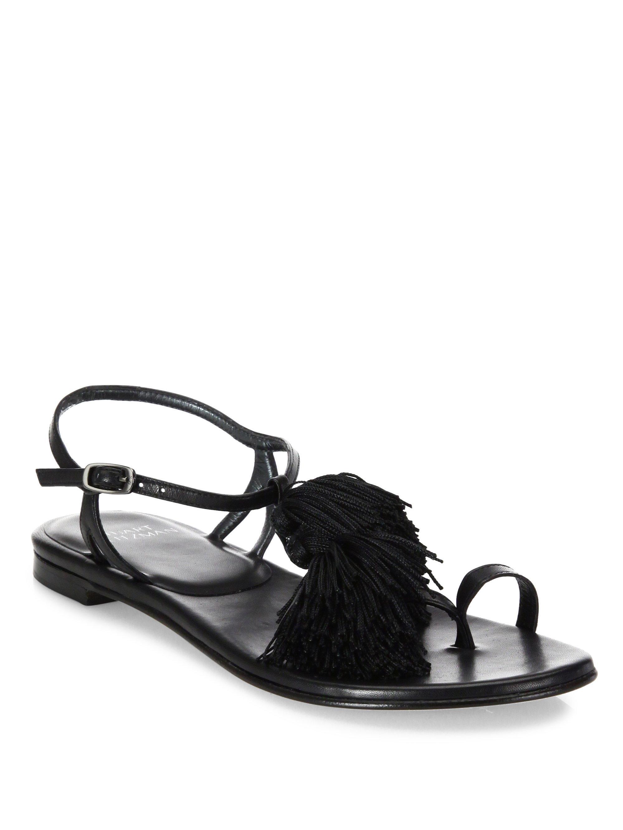 Stuart Weitzman Tassel Ankle Strap Sandals discount deals tumblr cheap price classic for sale clearance visit pq1Xl