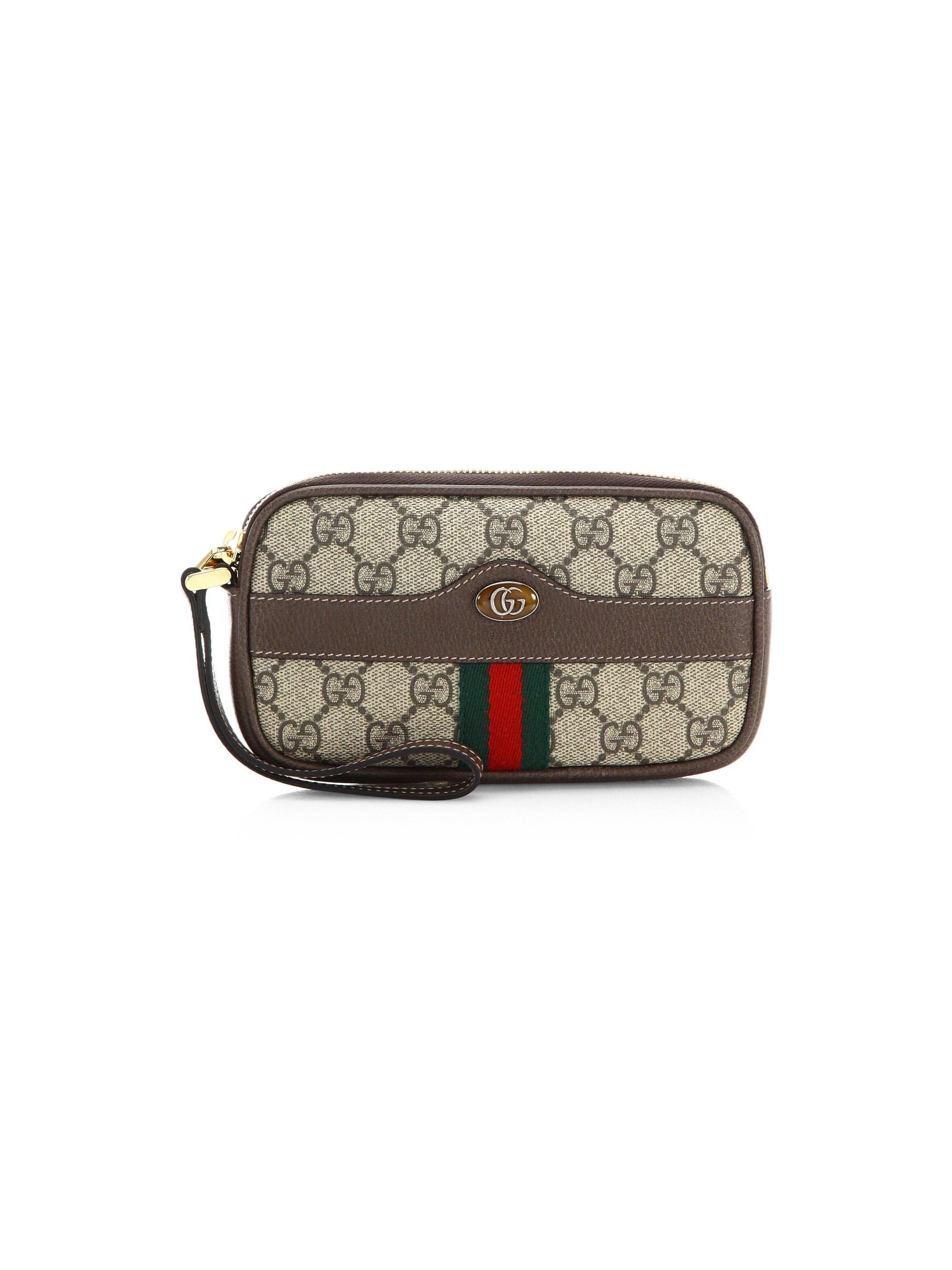 97846d1a70eac4 Gucci Women's Ophidia GG Supreme Cellphone Case - Brown in Brown - Lyst
