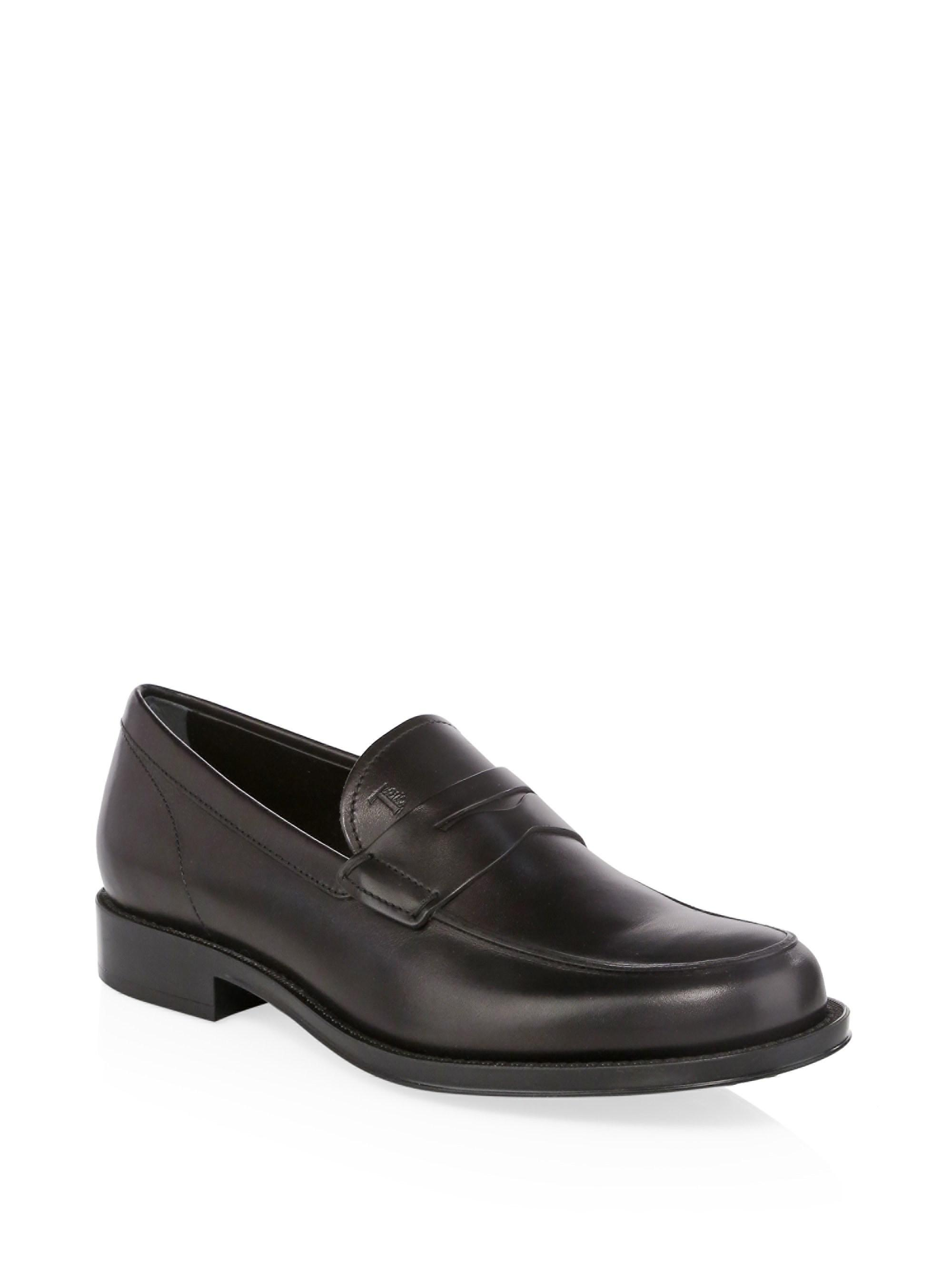 68f9f77bf46 Tod s Leather Penny Loafers in Black for Men - Lyst