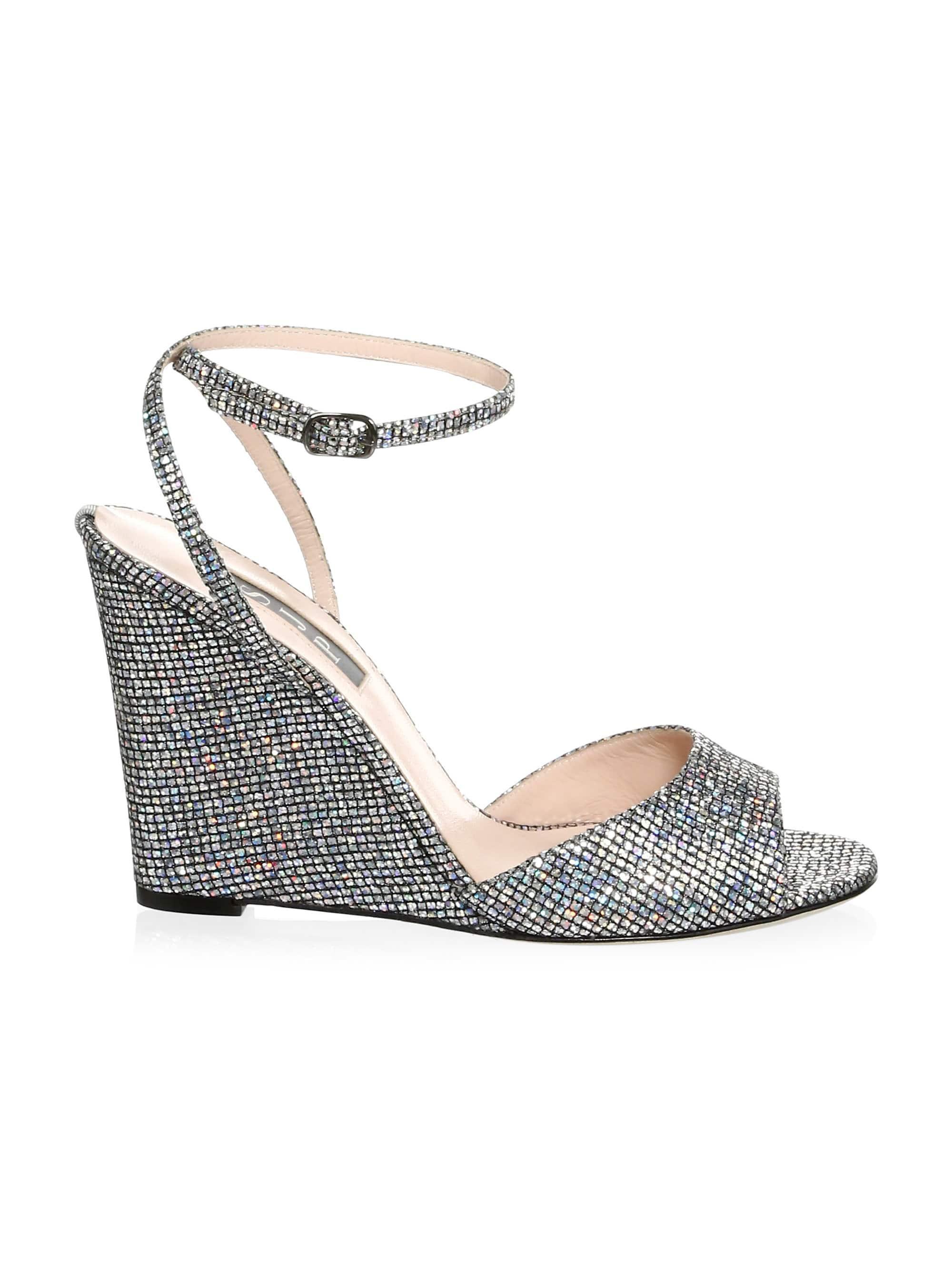 f6b0224c11 SJP by Sarah Jessica Parker Boca Glitter Wedge Sandals in Metallic - Lyst