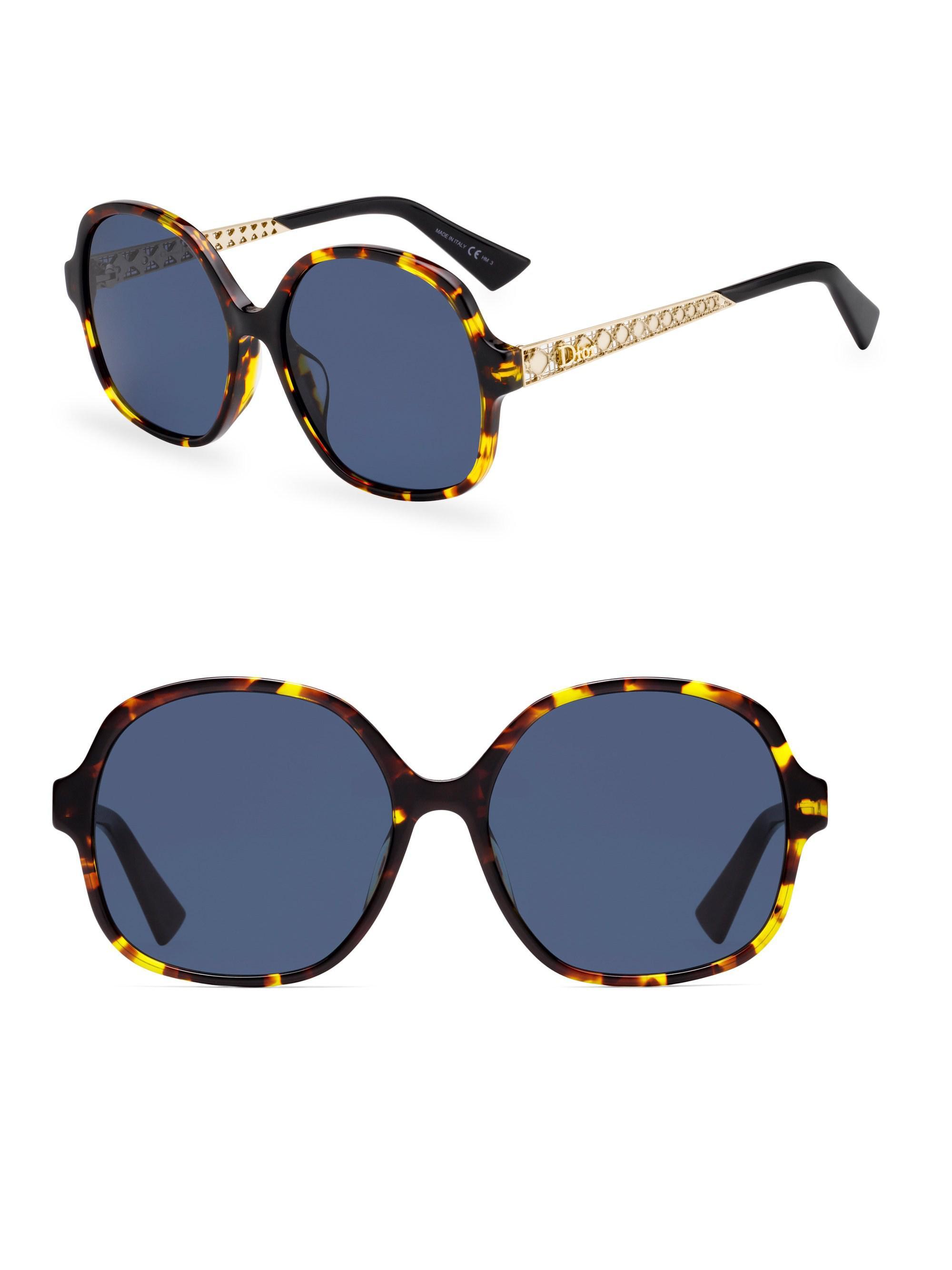 c3e433d1d83 Lyst - Dior Ama 58mm Oversized Round Sunglasses in Blue