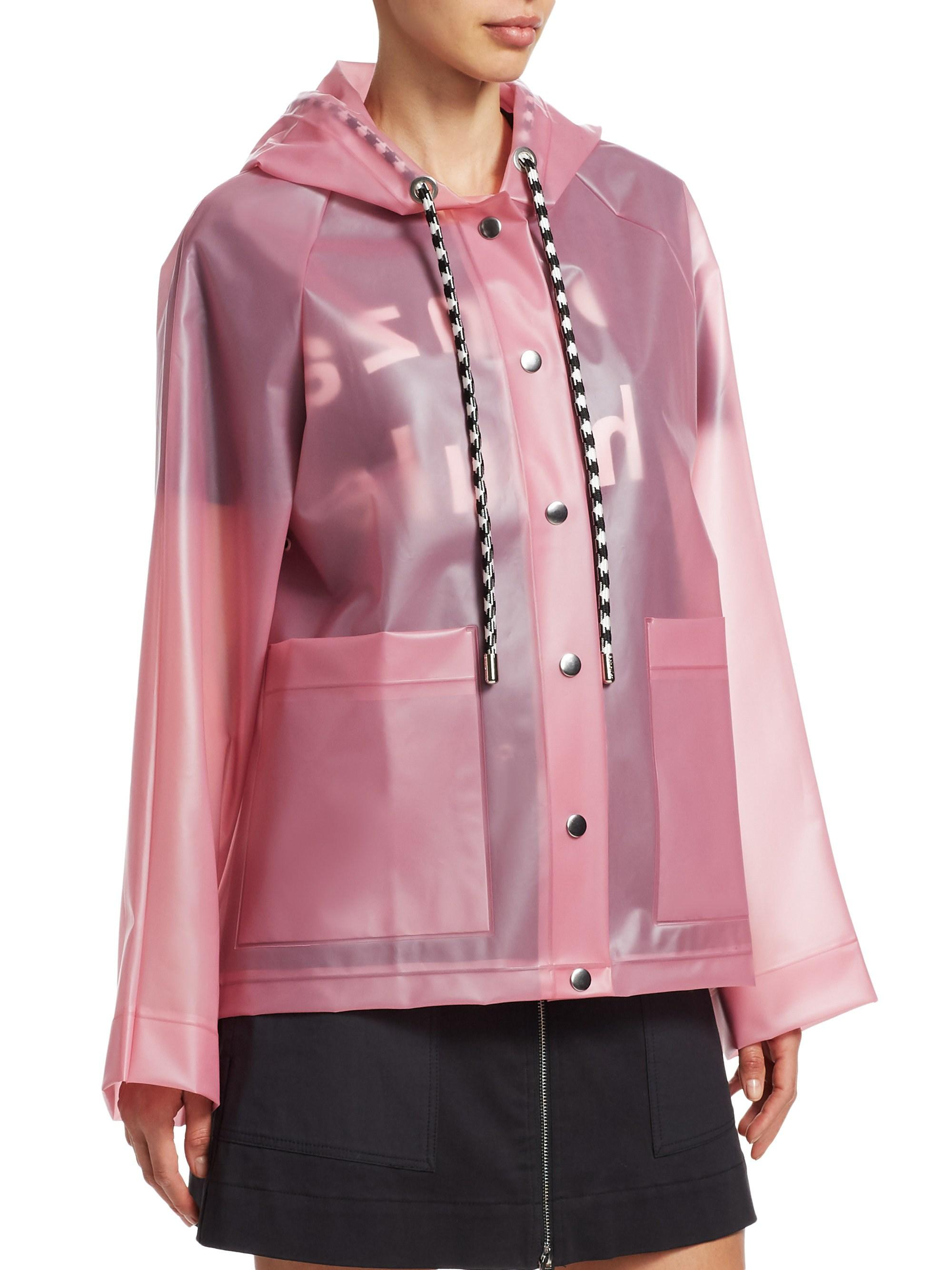 2ac8b31eea9f0 Proenza Schouler Pink Polyurethane Outerwear Jacket in Pink - Save 54% -  Lyst