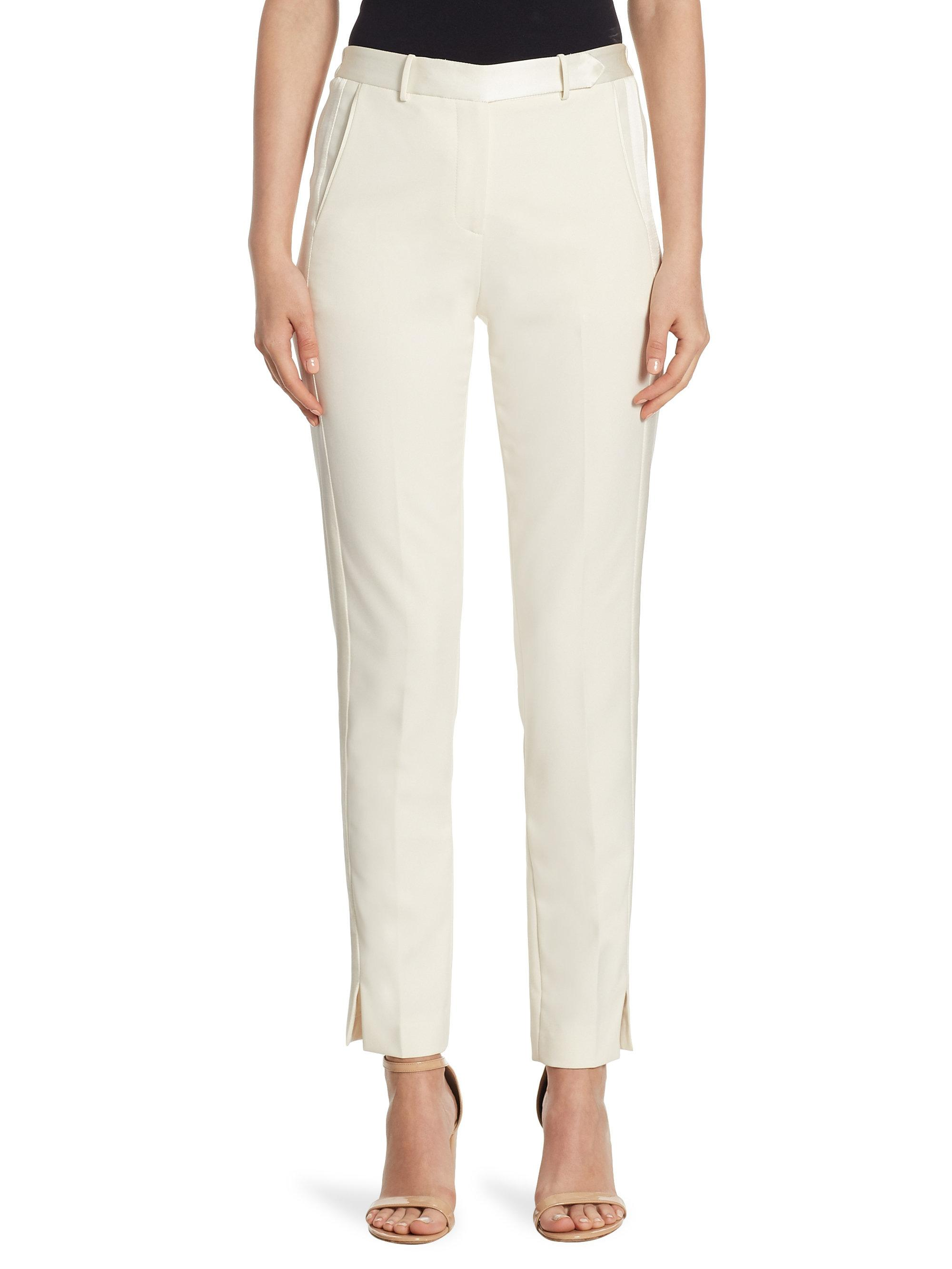 Buy Cheap Price Halston Heritage Woman Stretch-knit Tapered Pants White Size 10 Halston Heritage Original Sale Online Clearance Big Discount Buy Cheap Best Wholesale TPqqP7kbe