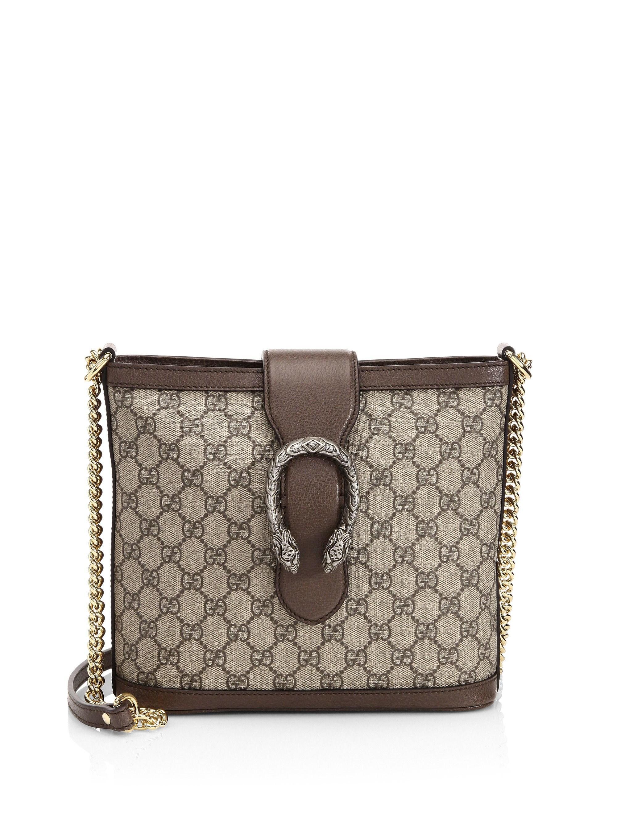 2a5d5e50362f13 Gucci Women's Dionysus GG Supreme Medium Bucket Bag - Beige Multi - Lyst