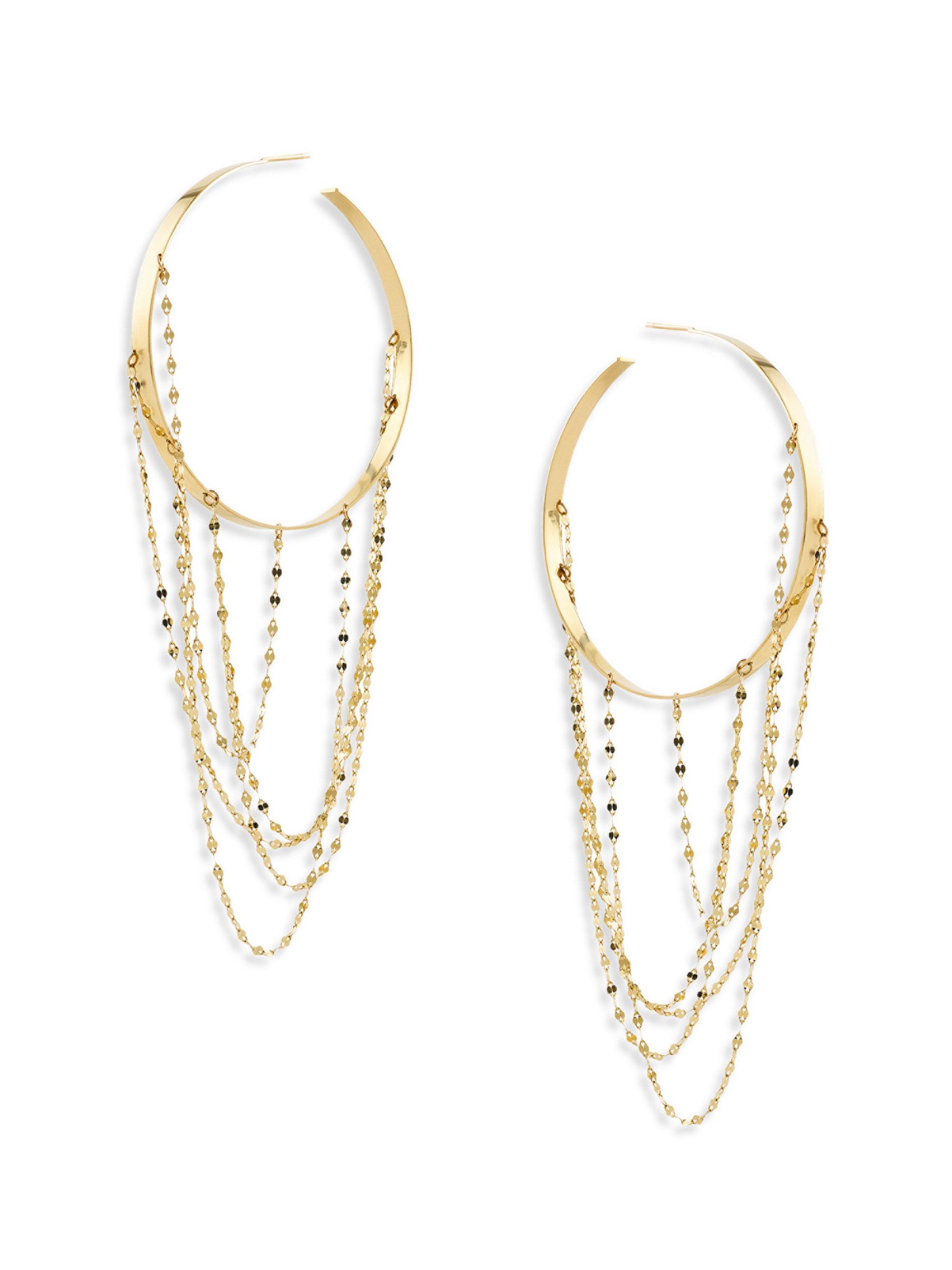 Lana Jewelry Large Bond Hoop Drop Earrings cBZYb2EJyd